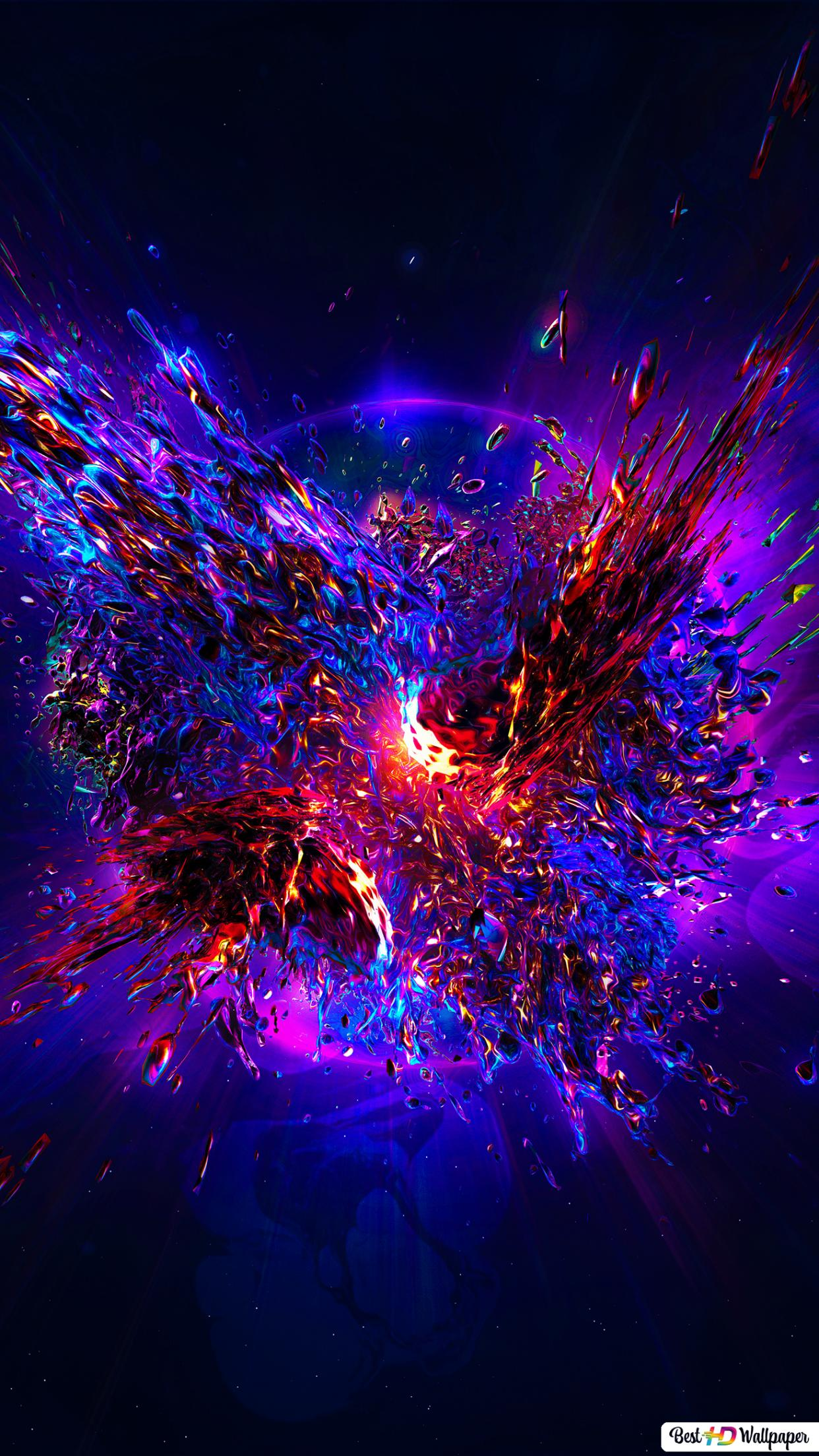 3d explosion splash wallpaper 1242x2208 16886 167