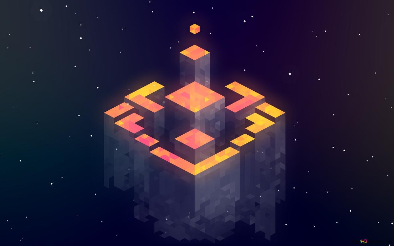 3d Tetris Arka Plan Ve Uzay Hd Duvar Kağıdı Indir