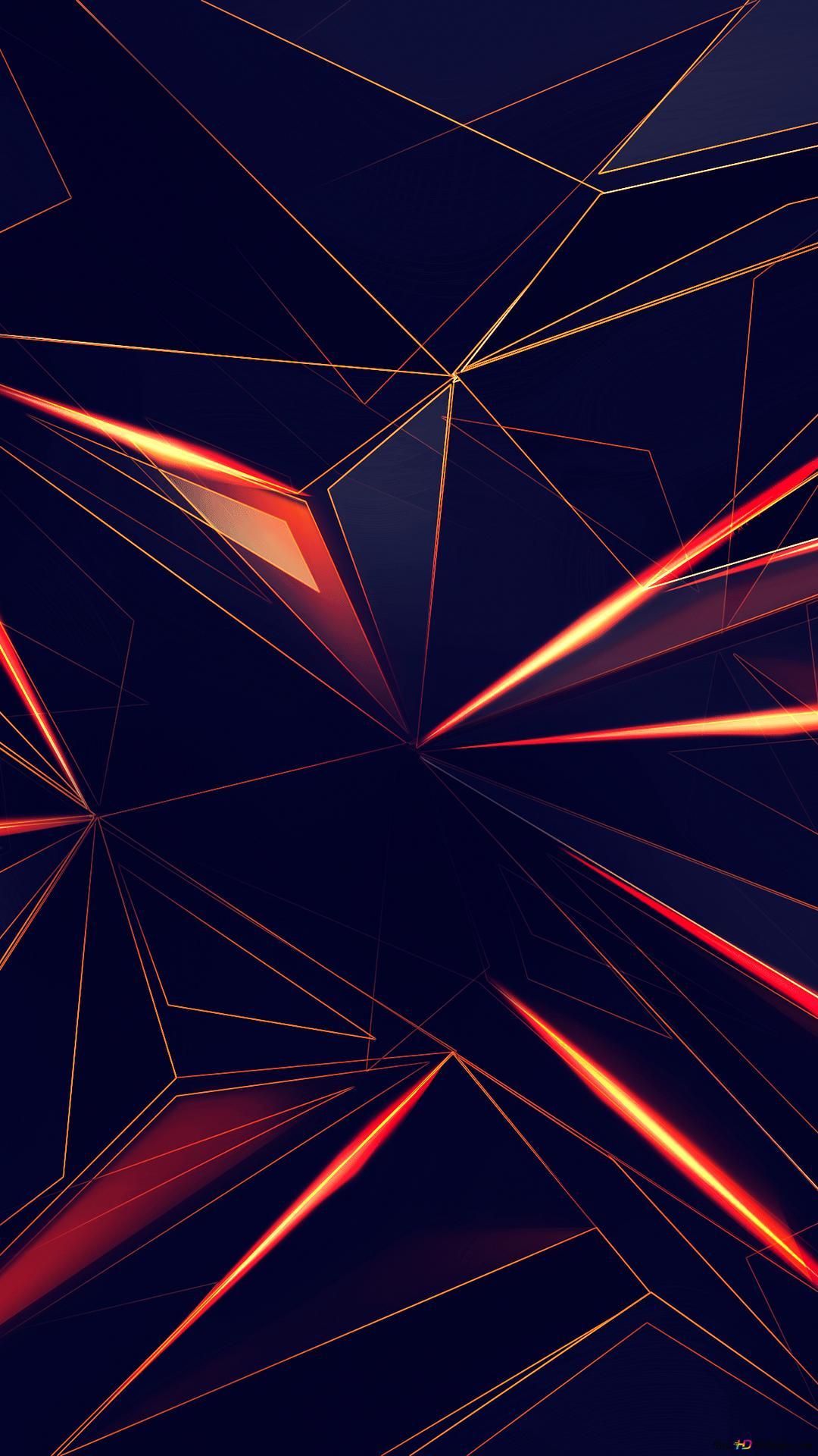 3d幾何学的な三角形 Hd壁紙のダウンロード