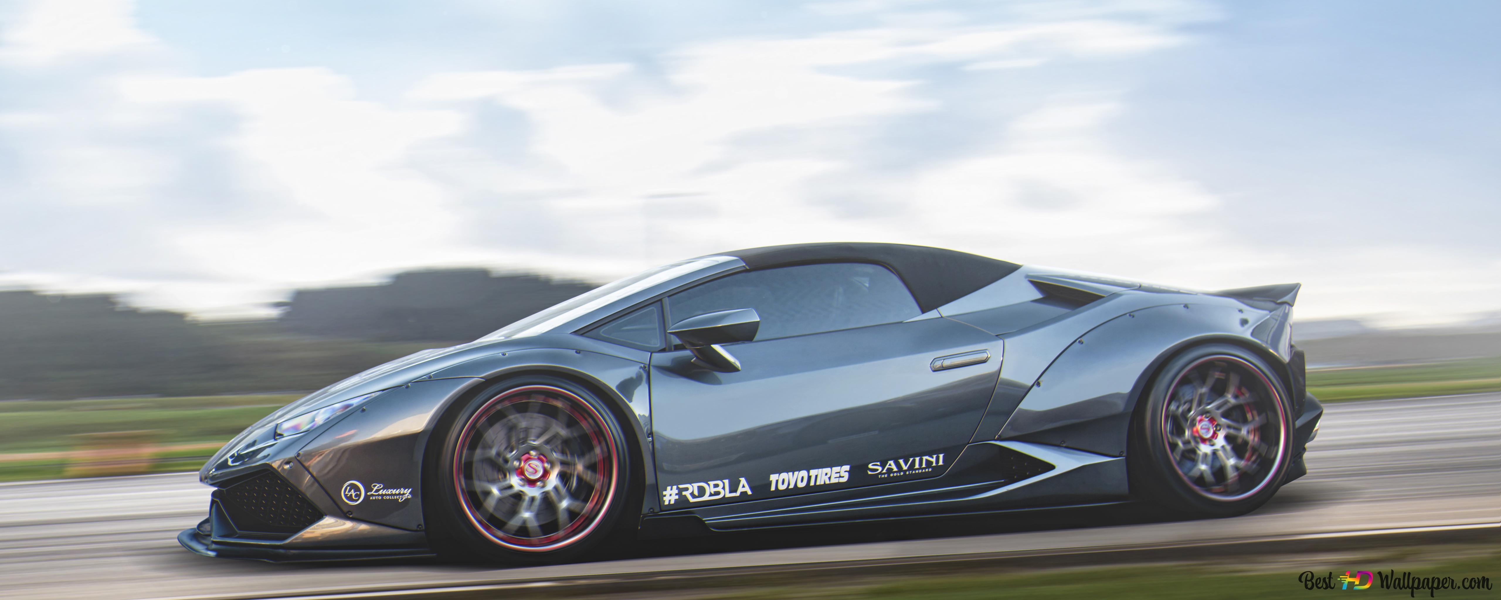 Descargar Fondo De Pantalla 5k Gris Lamborghini Huracán Hd