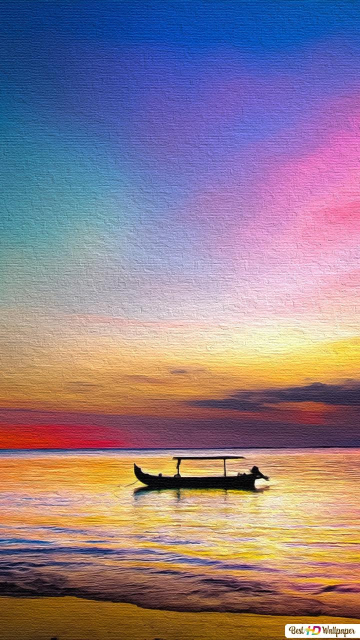 A Colorful Sunset HD Wallpaper Download
