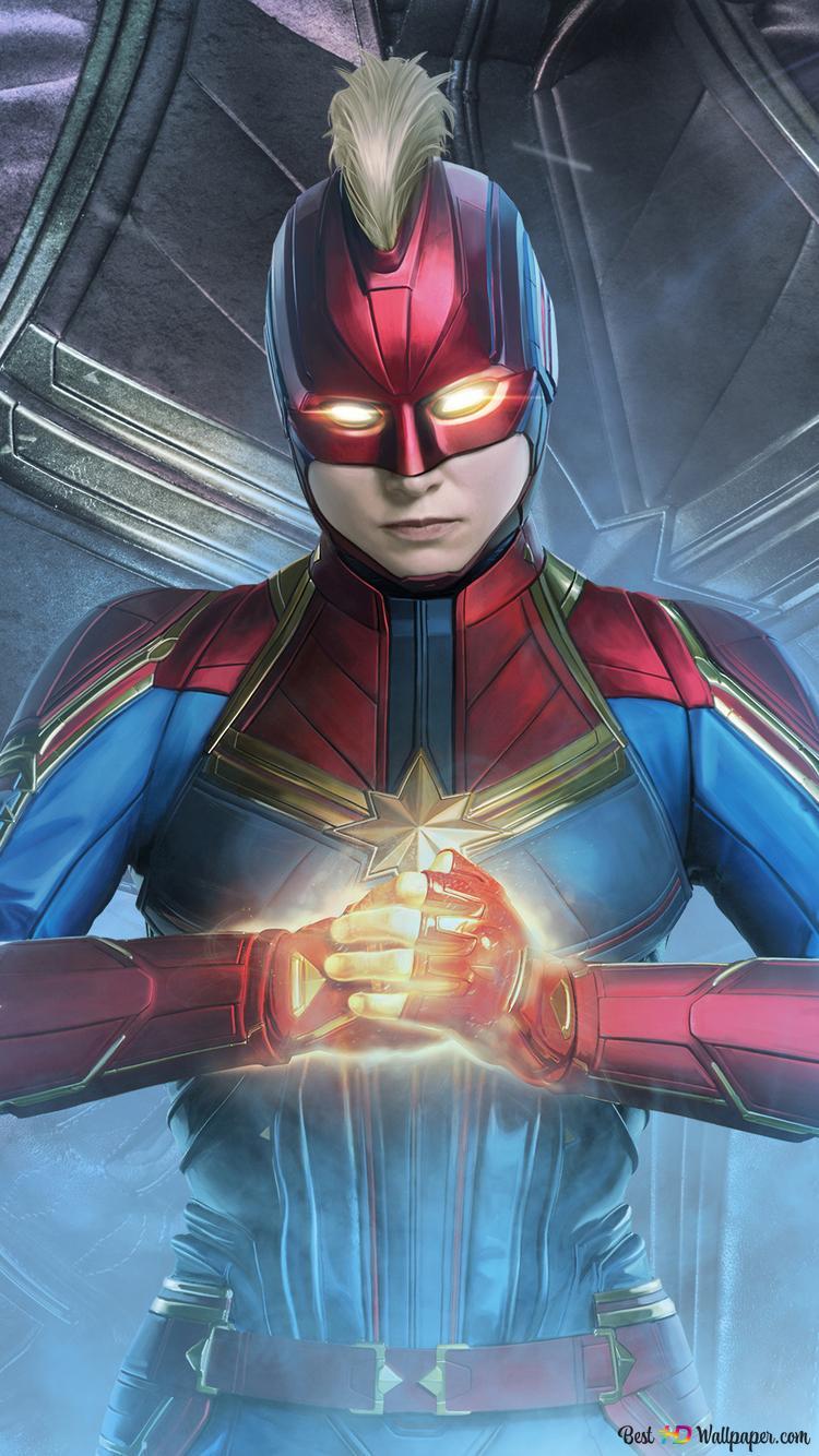 アベンジャーズ エンドゲーム キャプテンマーベルスーパーヒーロー Hd壁紙のダウンロード
