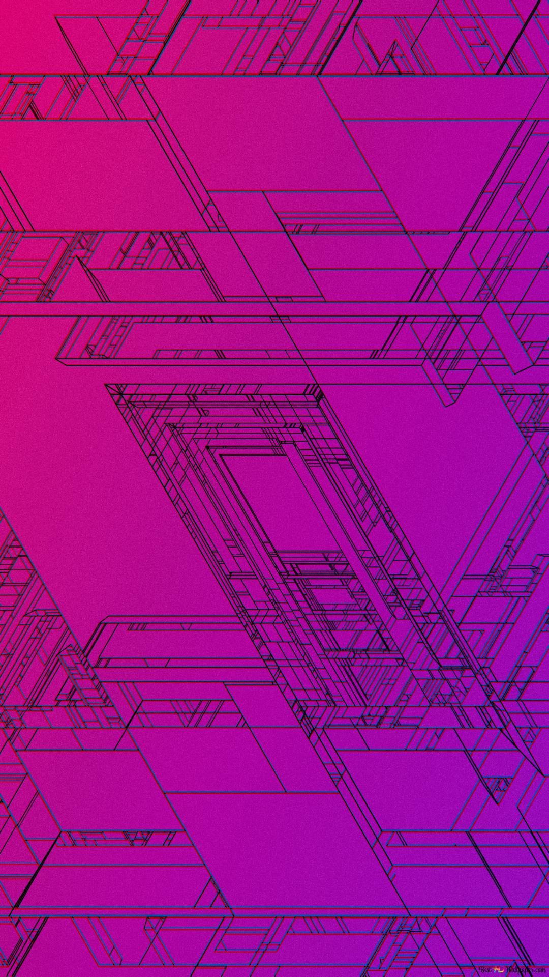 Purple blueprint HD wallpaper