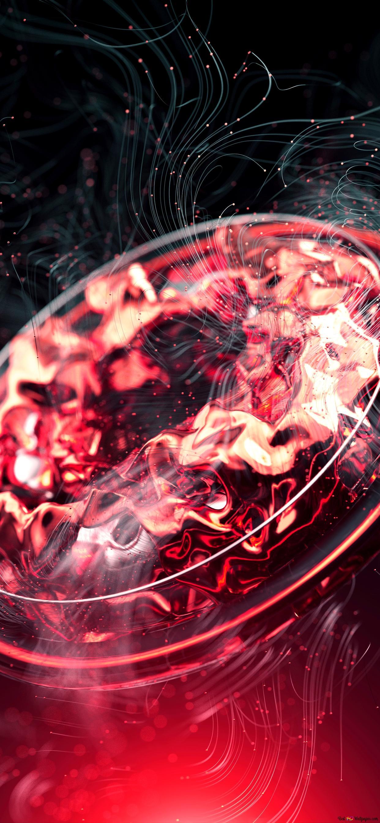 Abstract Red Circle Hd Wallpaper Download