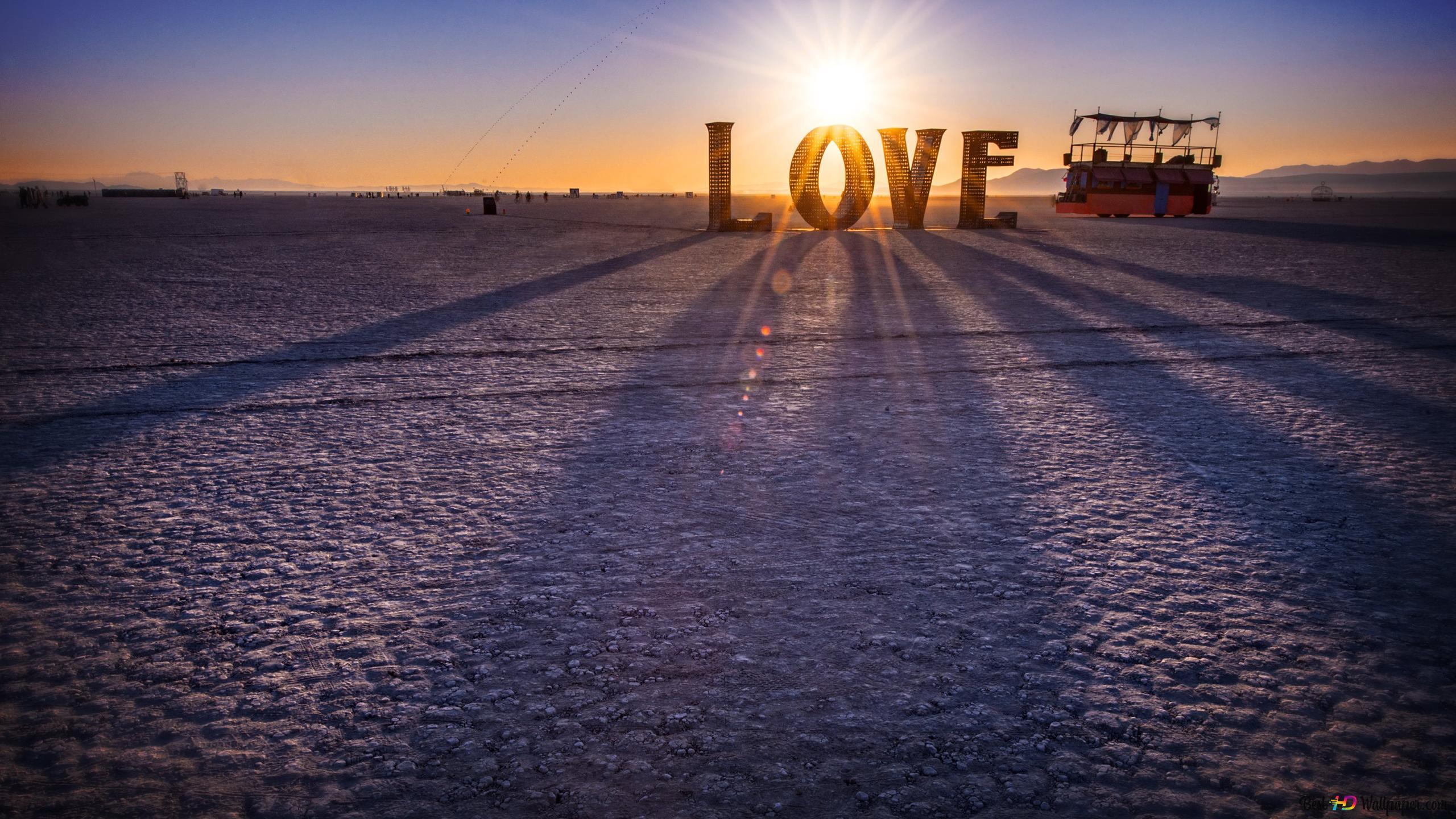 愛 砂漠の夕日 hd壁紙のダウンロード