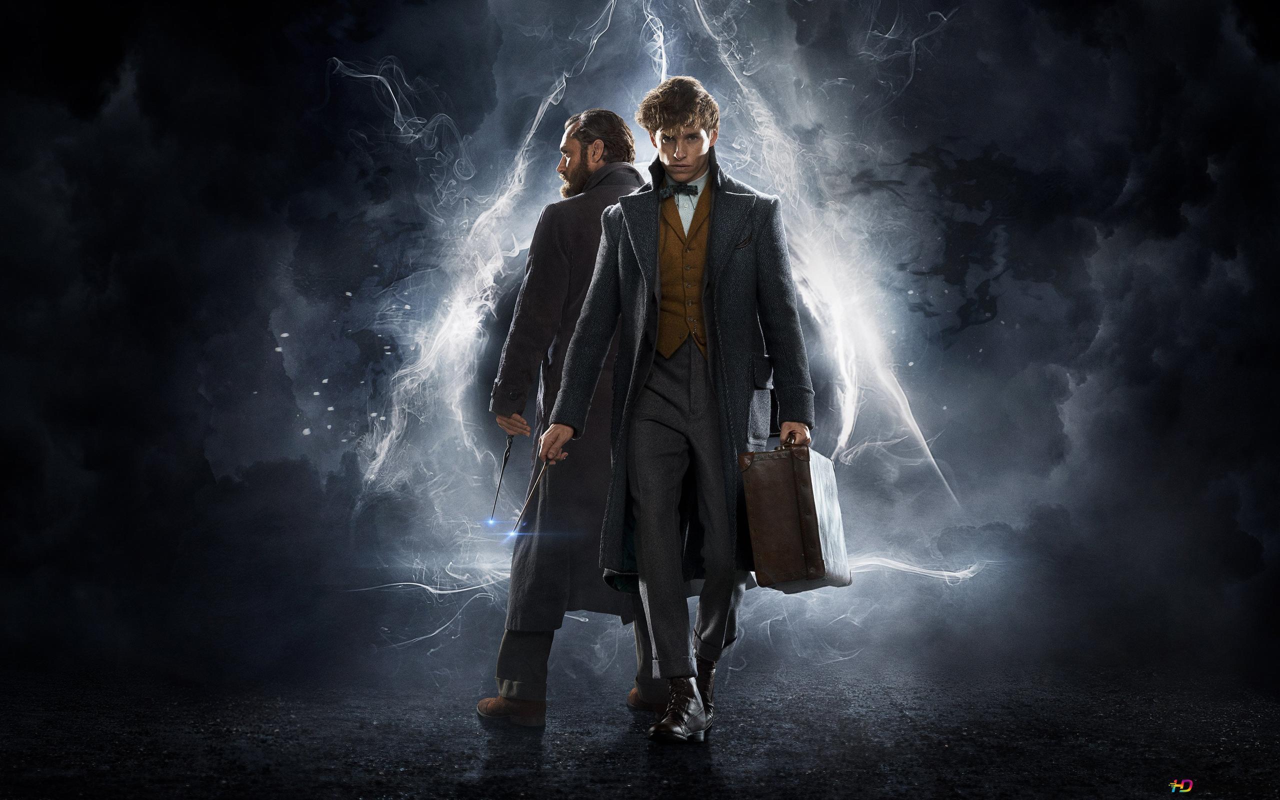 Albus Dumbledore Together With Newt Scamander Hd Wallpaper Download