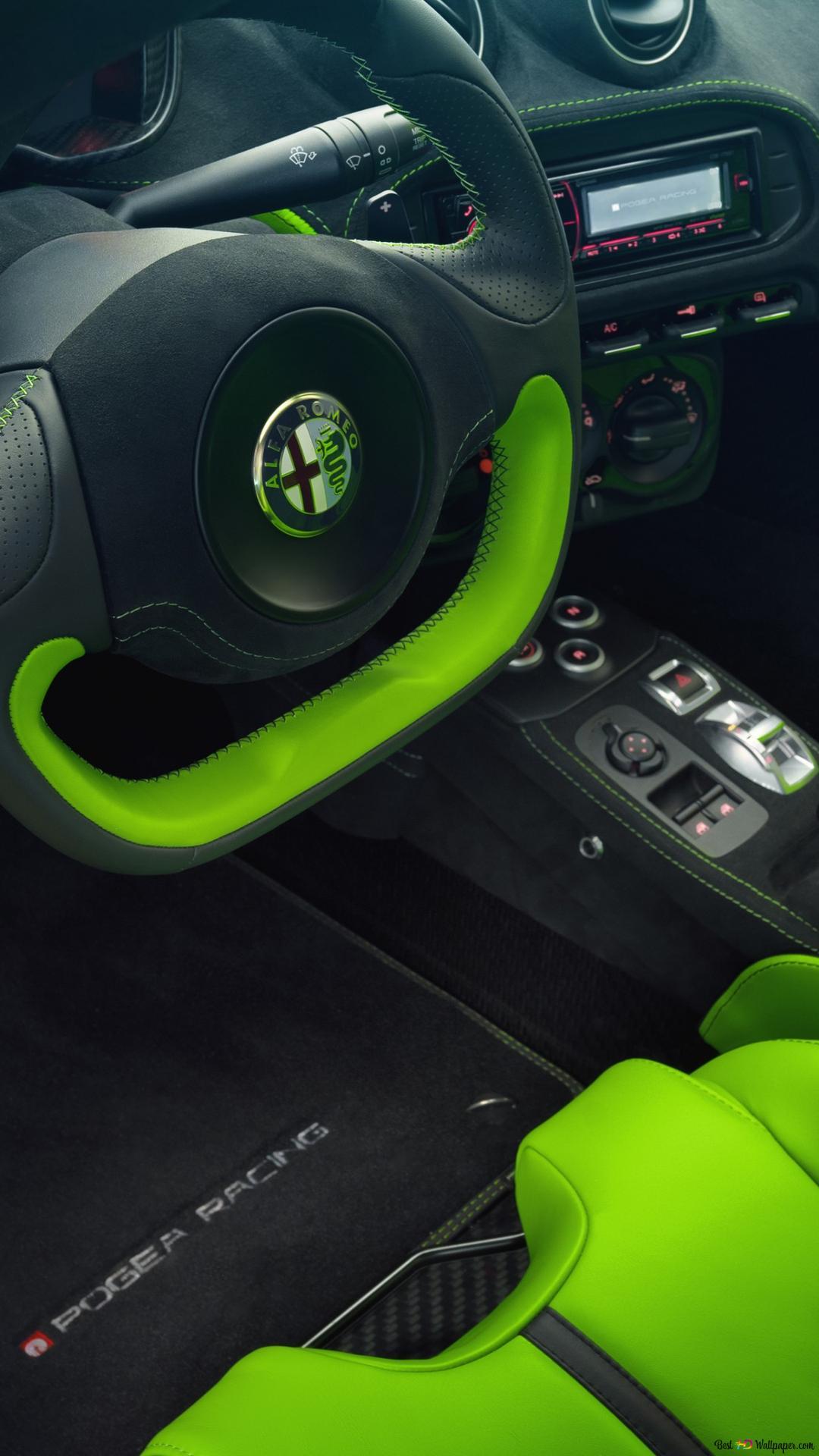 Alfa Romeo 4c Interno Download Di Sfondi Hd