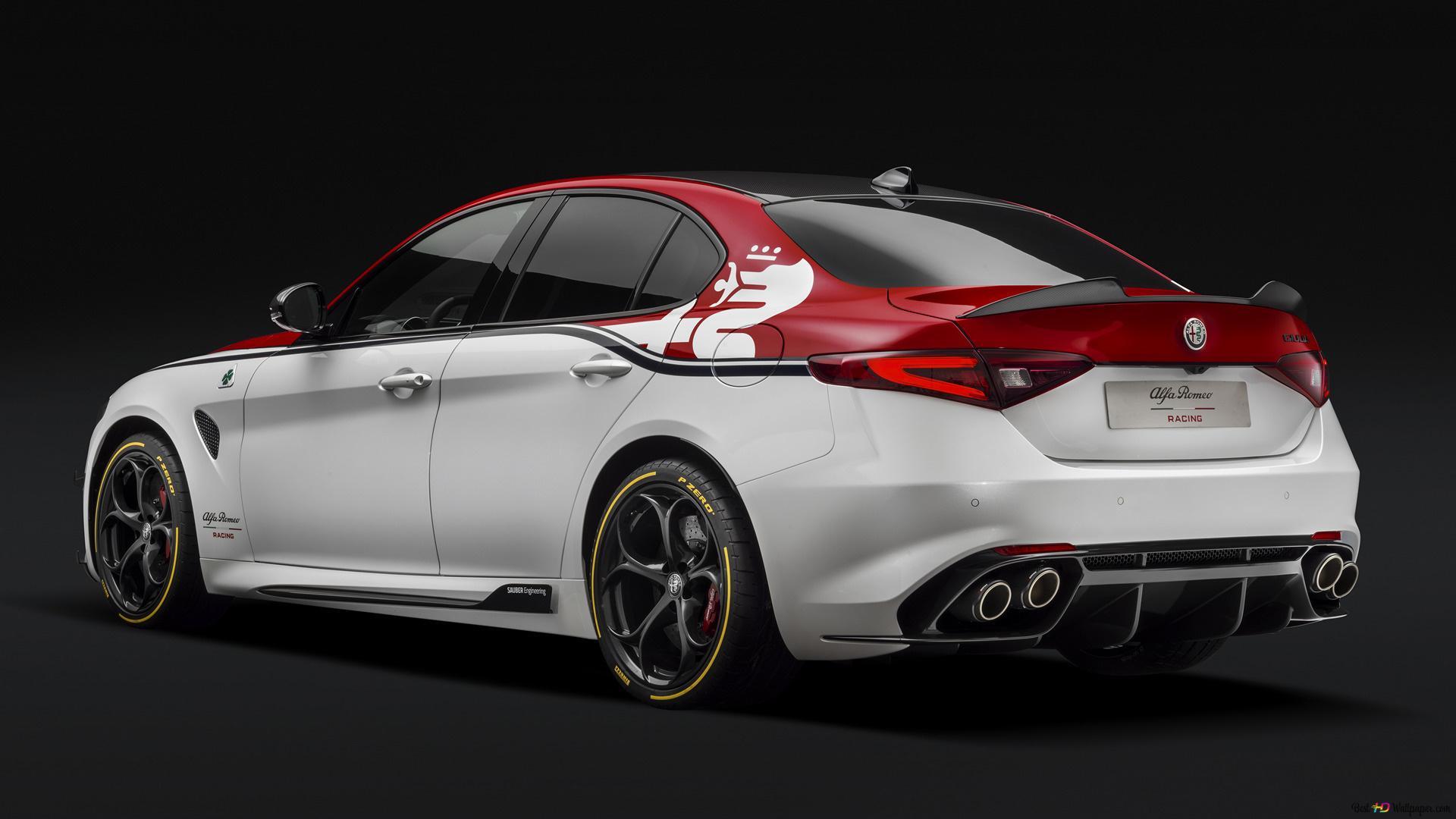 Alfa Romeo Giulia Quadrifoglio Racing Behind Hd Wallpaper Download