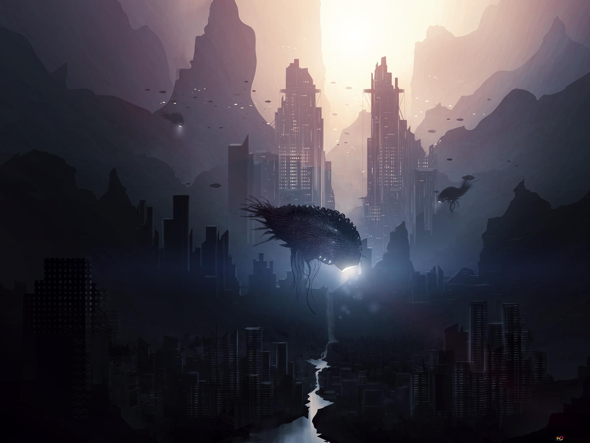 Alien Invasion Hd Wallpaper Download