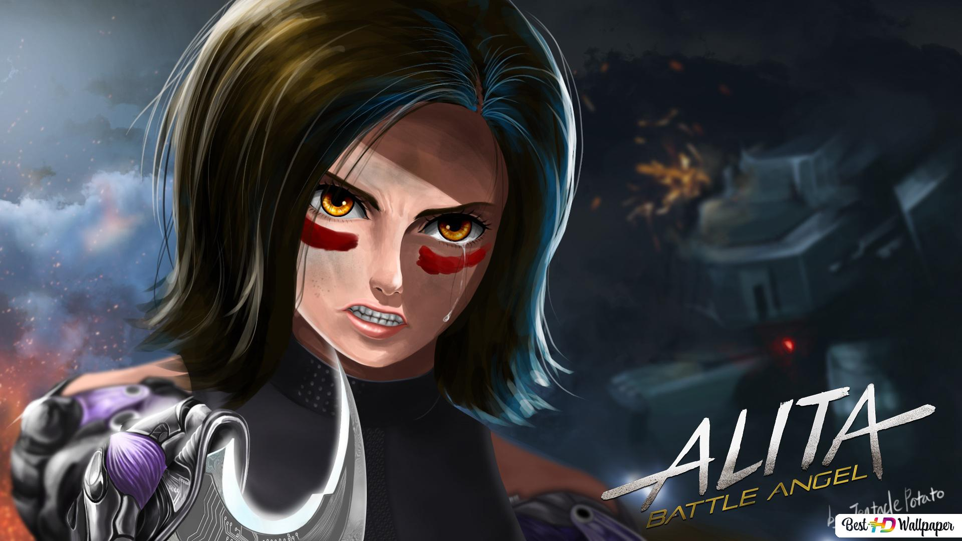 Alita Battle Angel Art Hd Wallpaper Download