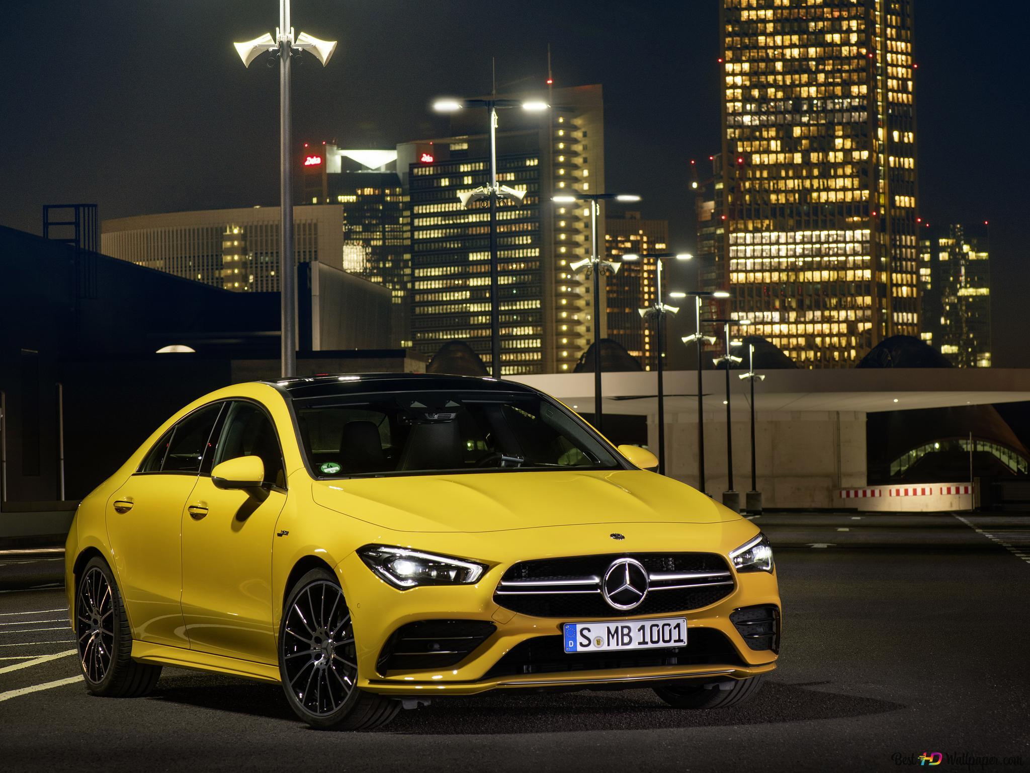 Descargar Fondo De Pantalla Amarillo Amg Mercedes Cla 35 Hd