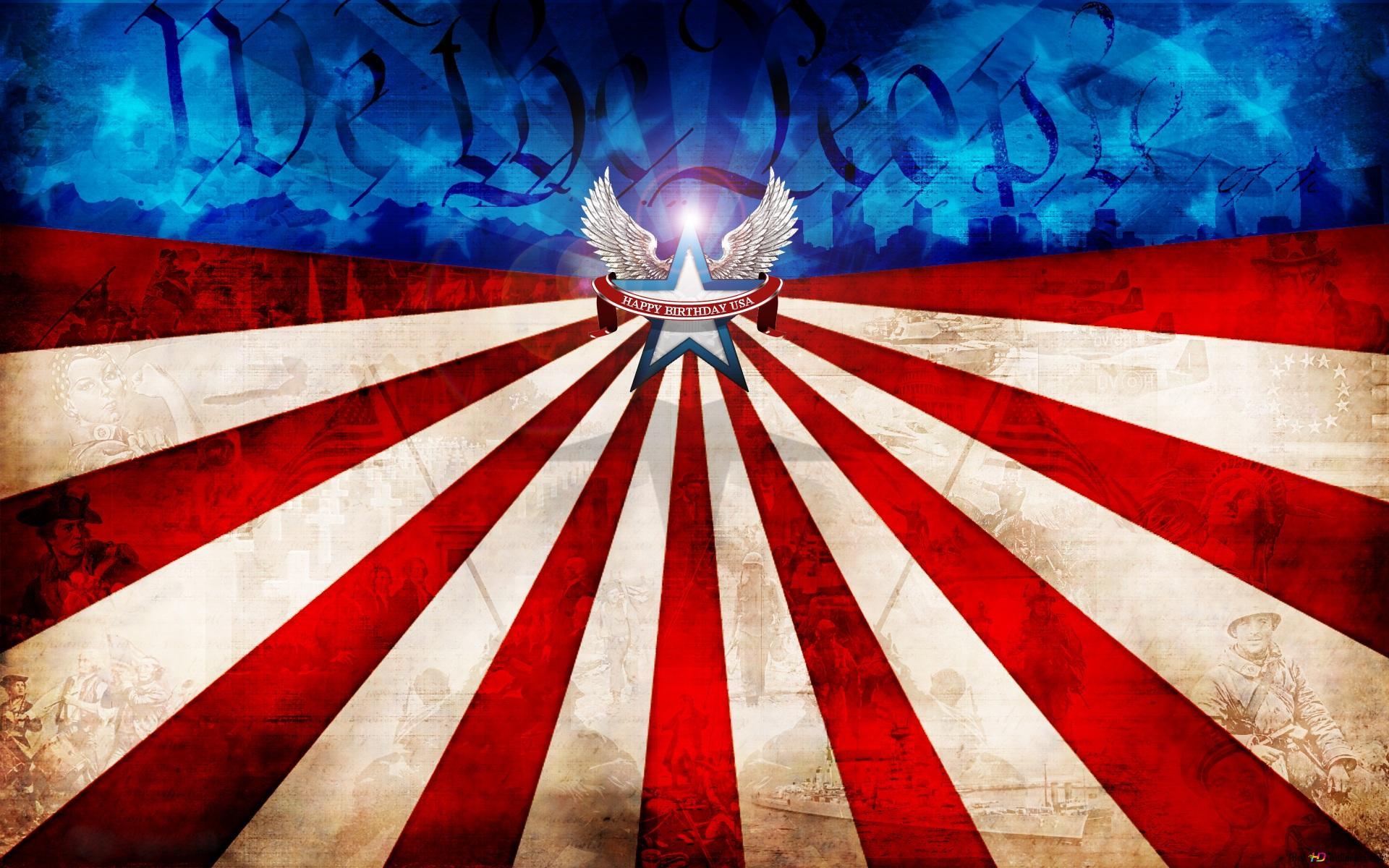 アメリカの国旗 独立記念日 Hd壁紙のダウンロード