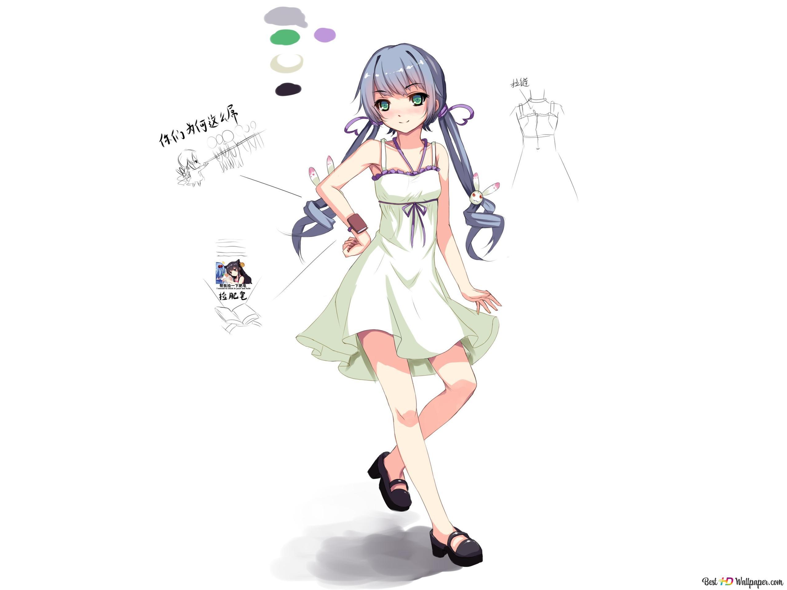 anime girl di gaun lucu wallpaper 2560x1920 10476 27