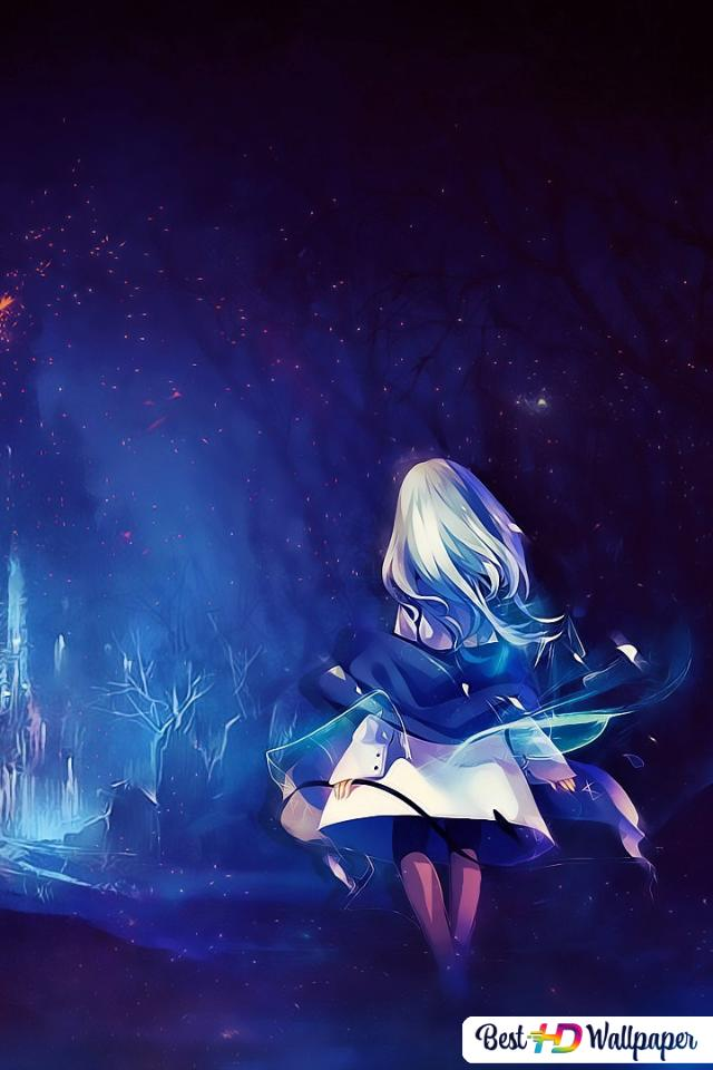 Anime Girl In Dark Forest Hd Wallpaper Download