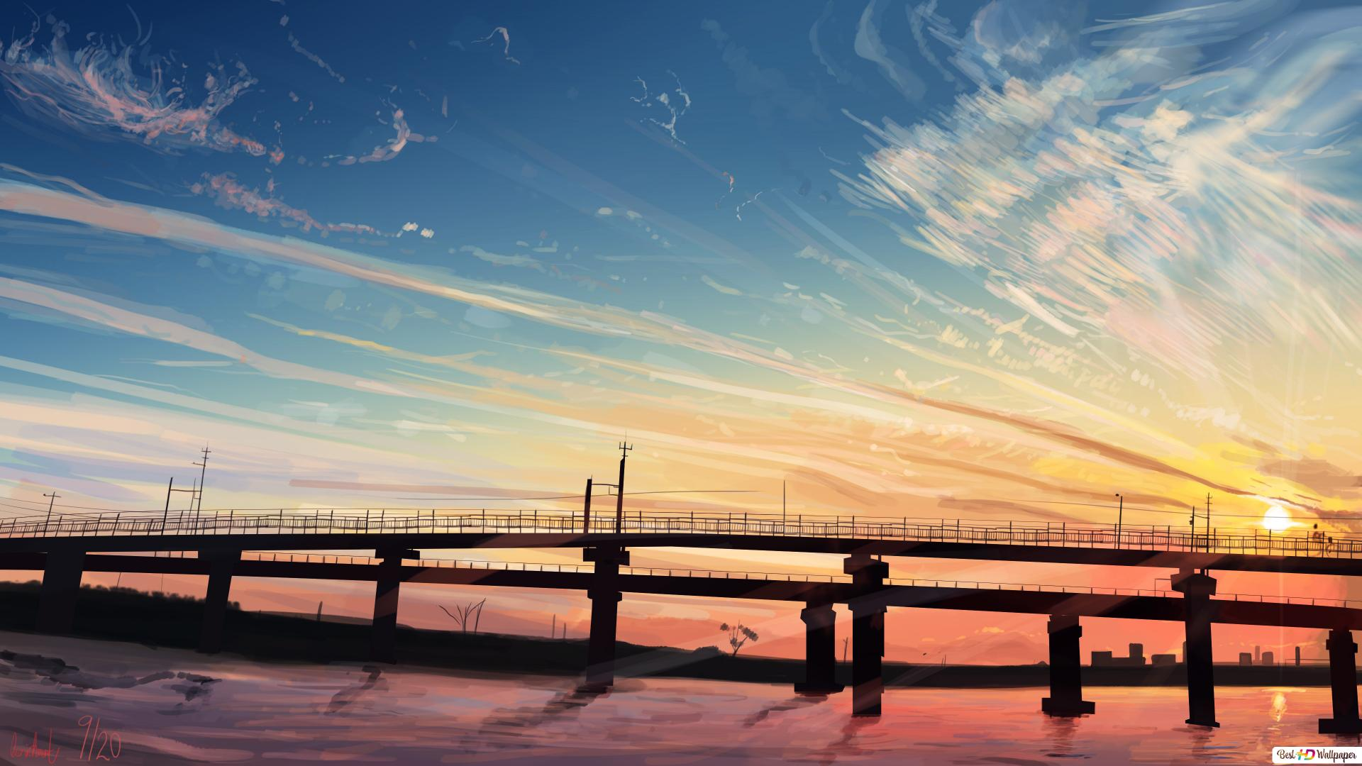 Anime Landscape Hd Wallpaper Download