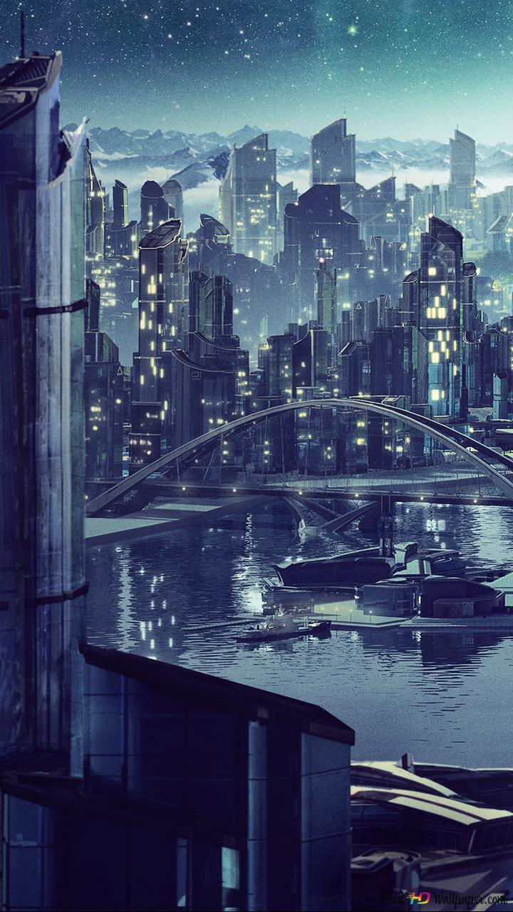Anno 2205 Night City Hd Wallpaper Download