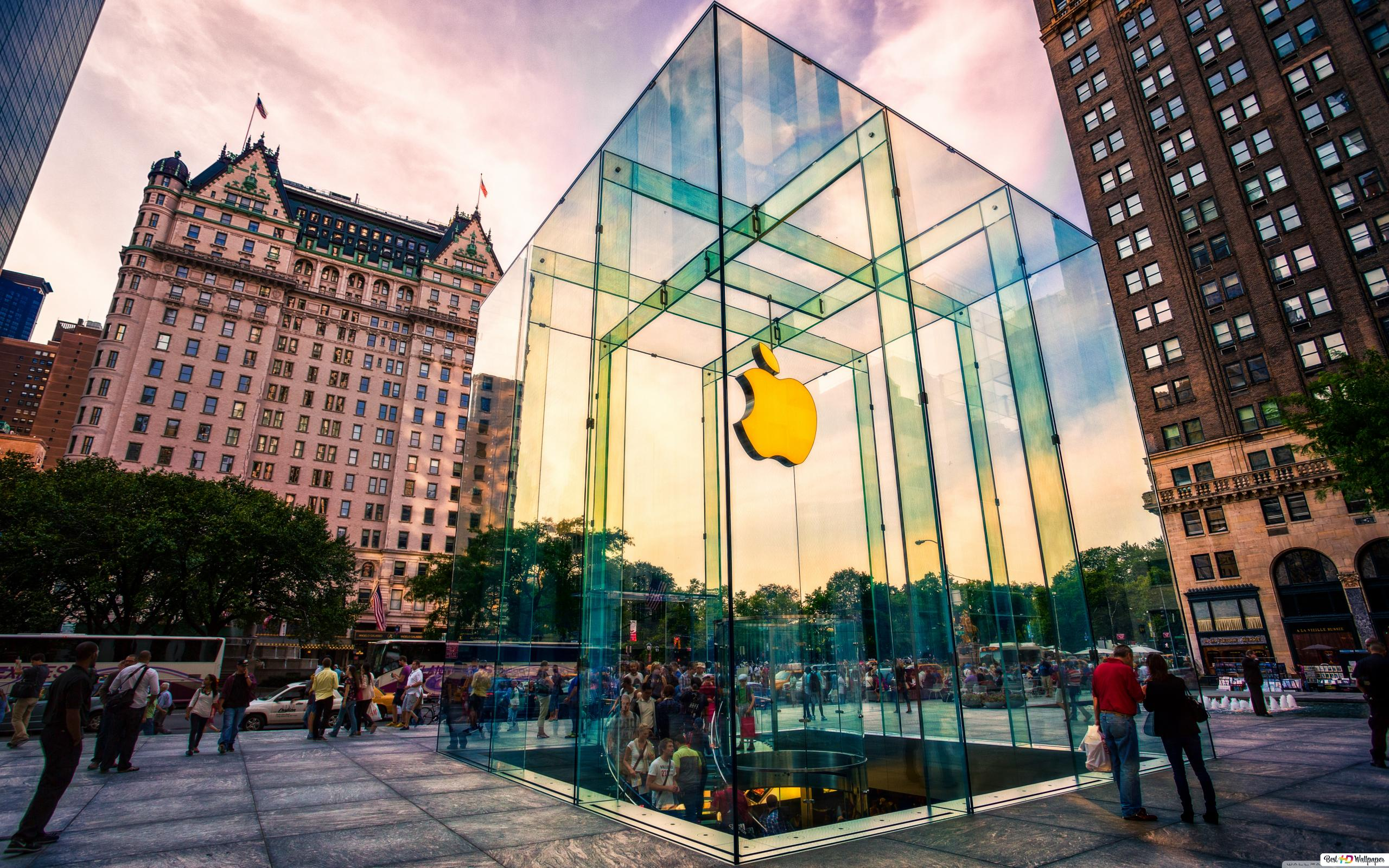 Apple Store In New York Hd Wallpaper Download