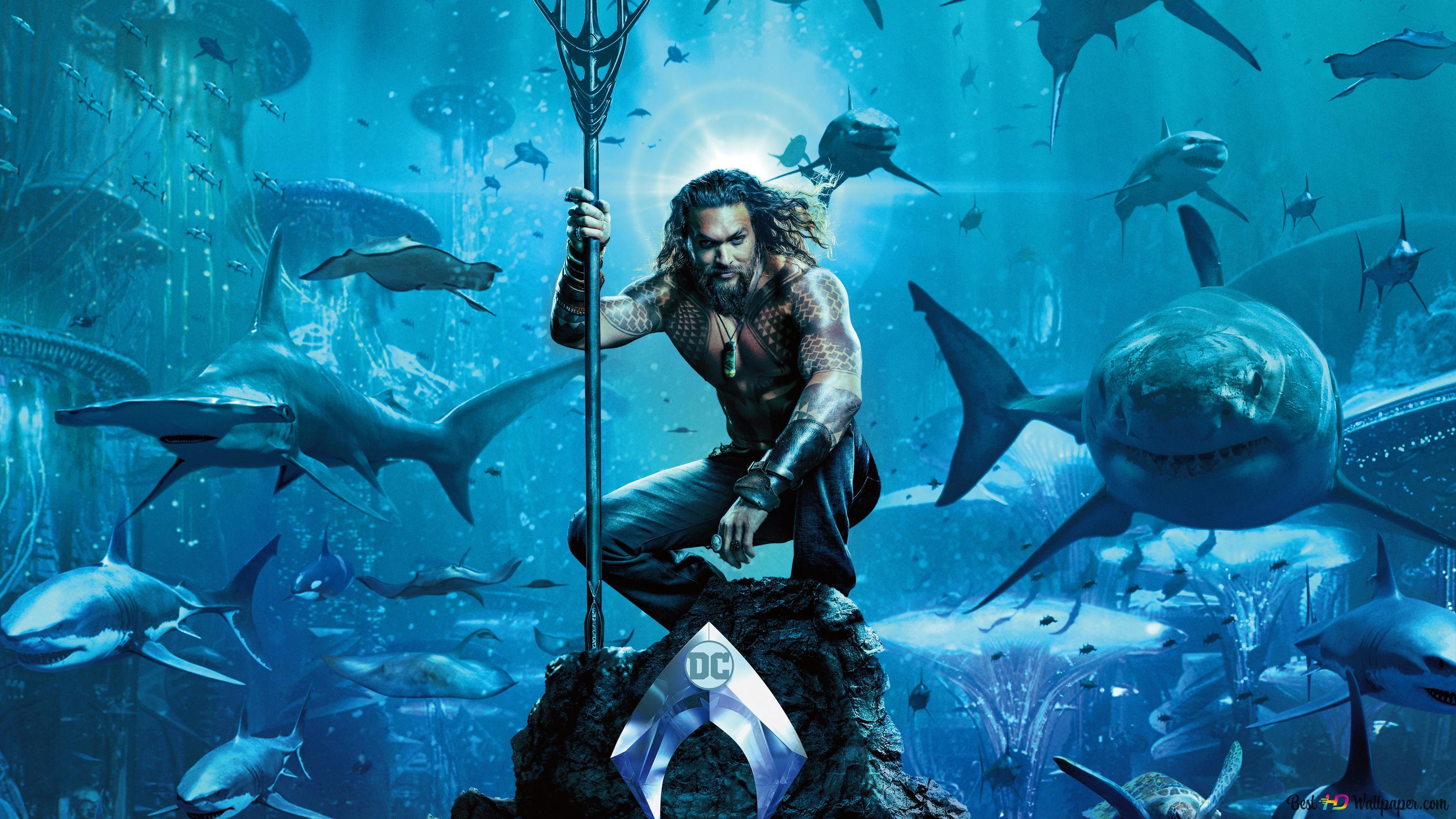 Descargar Fondo De Pantalla Aquaman Atlantis Tiburones