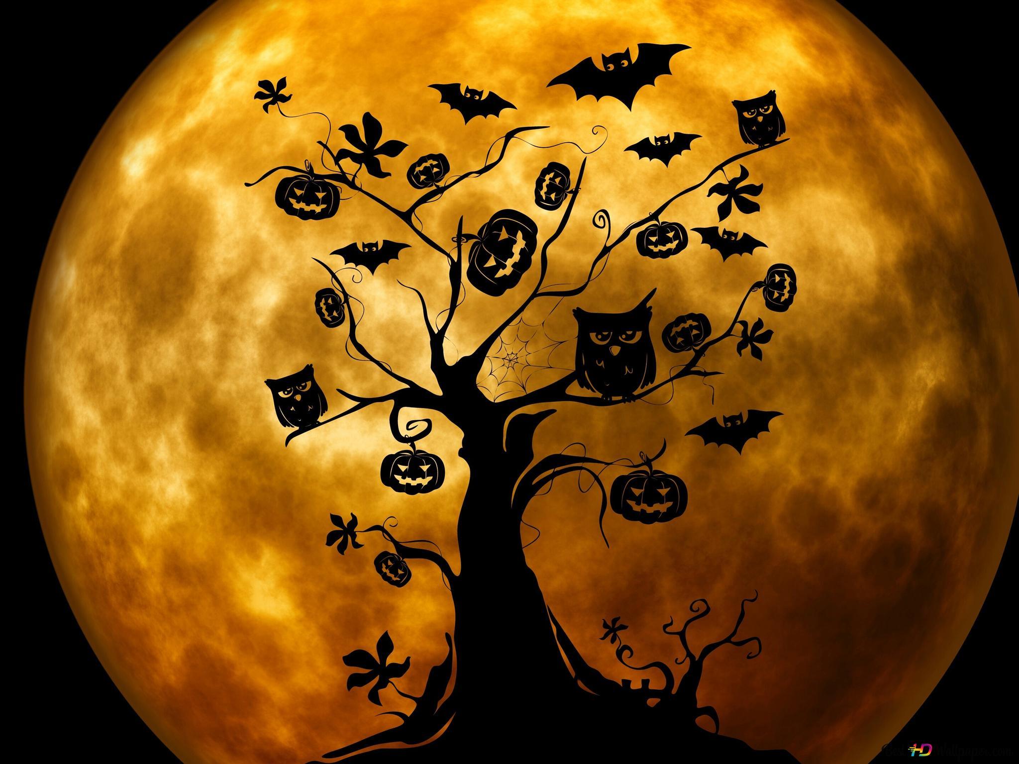 Descargar Fondo De Pantalla árbol De Halloween Hd