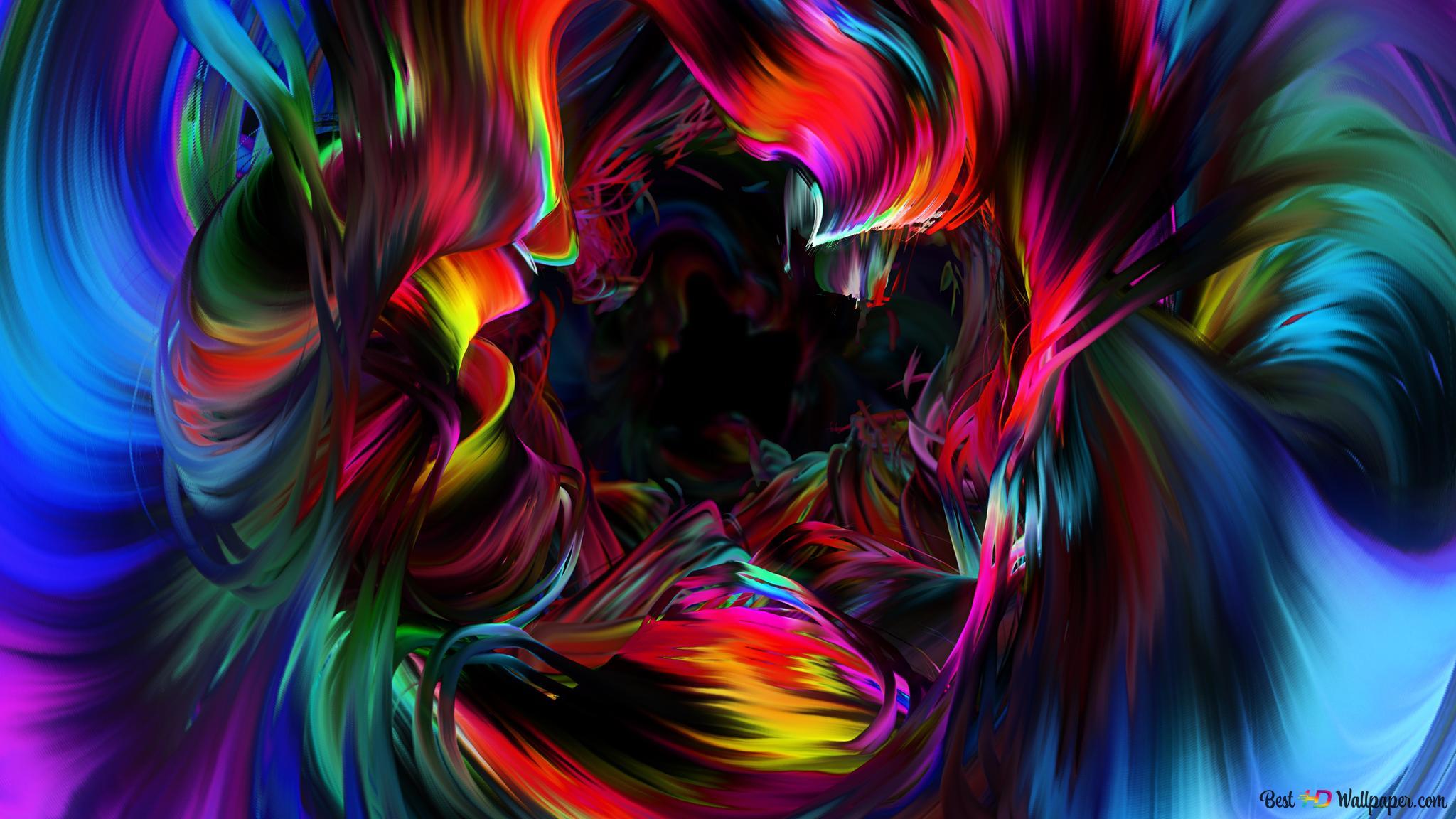 Art Abstrait Vibrant Hd Fond Décran Télécharger