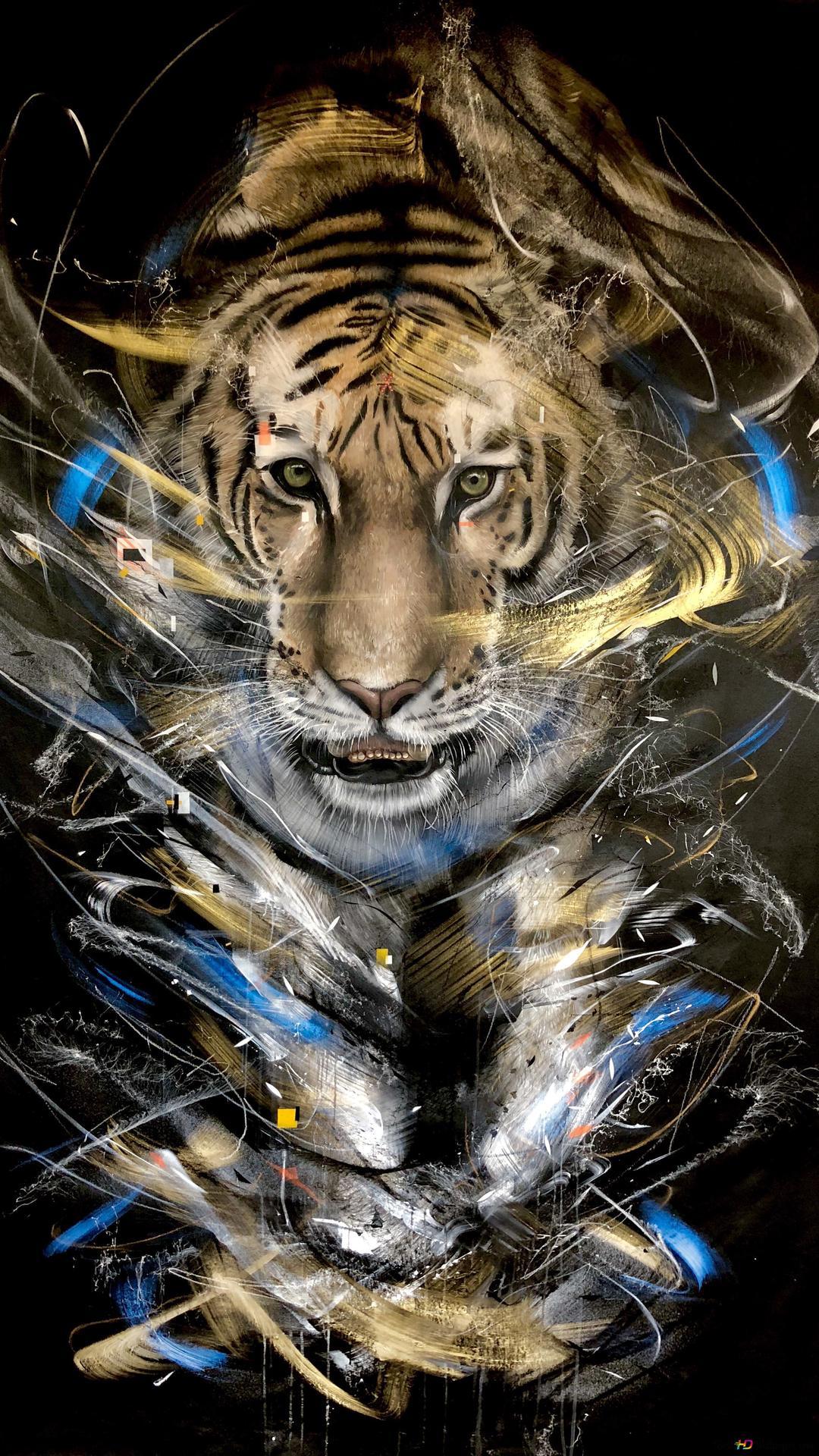 Art L7matrix Tiger Hd Wallpaper Download