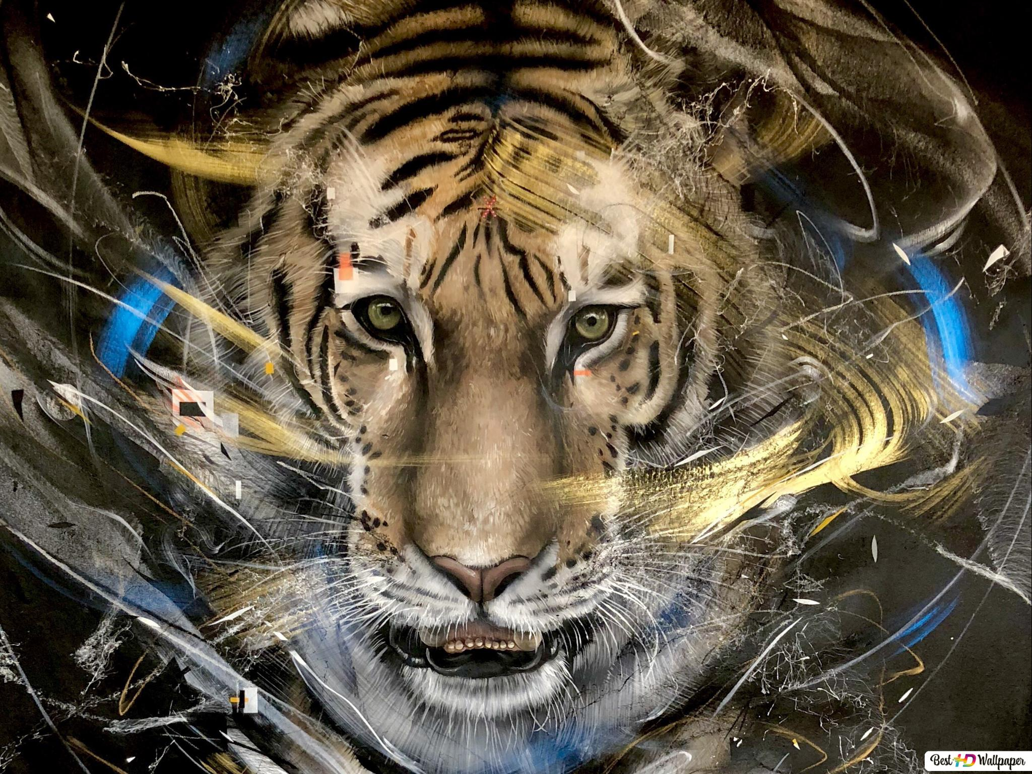 Art L7matrix Tiger Hd Wallpaper Download