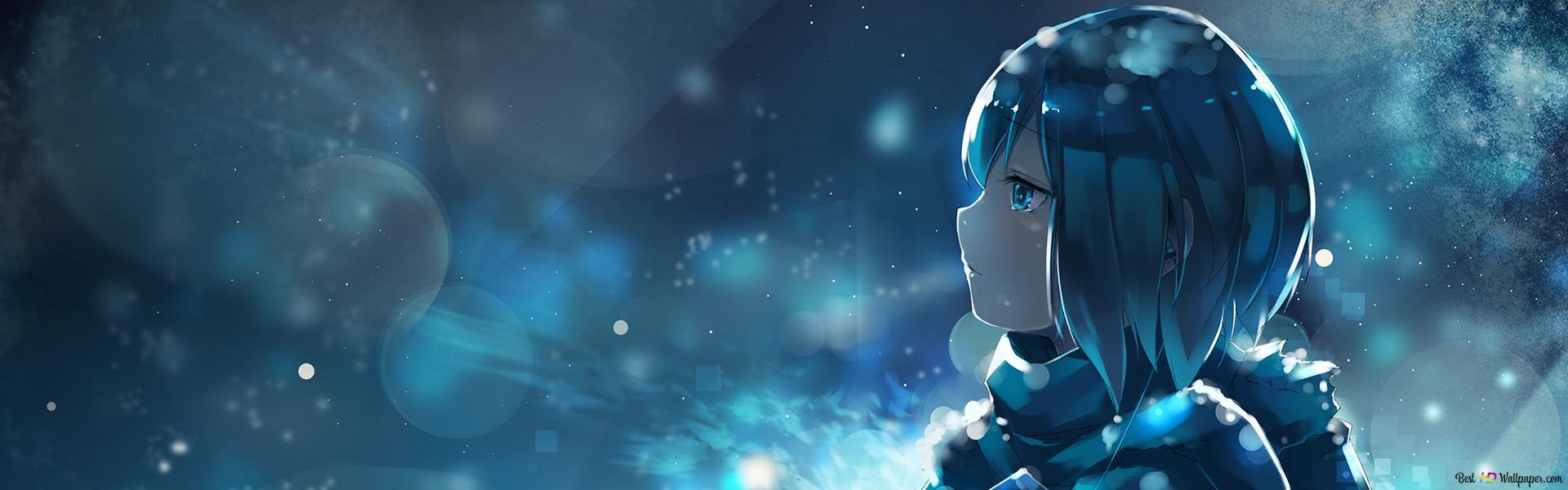 anime girl background HD wallpaper