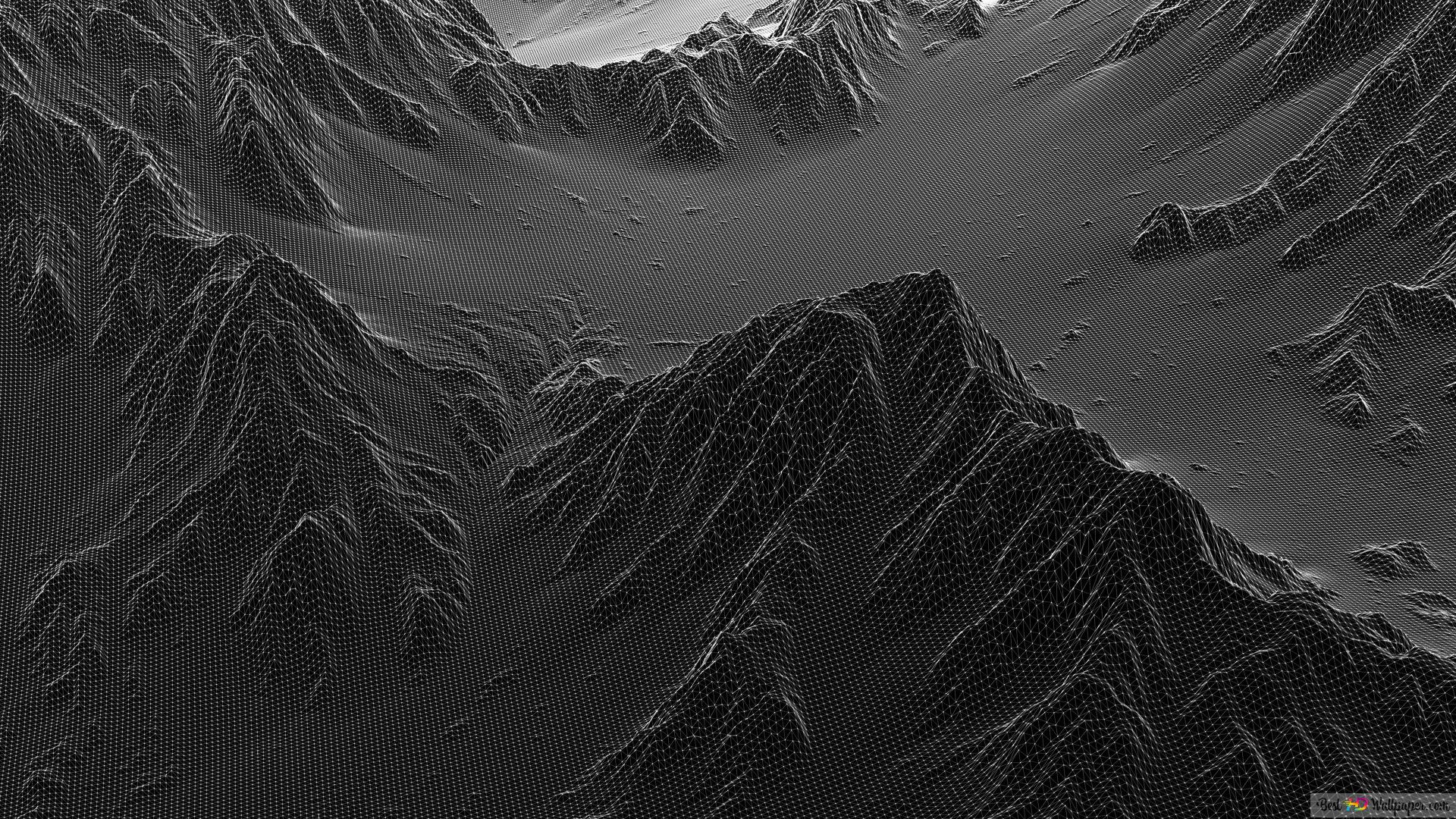 Artistic Black Mountain Hd Wallpaper Download