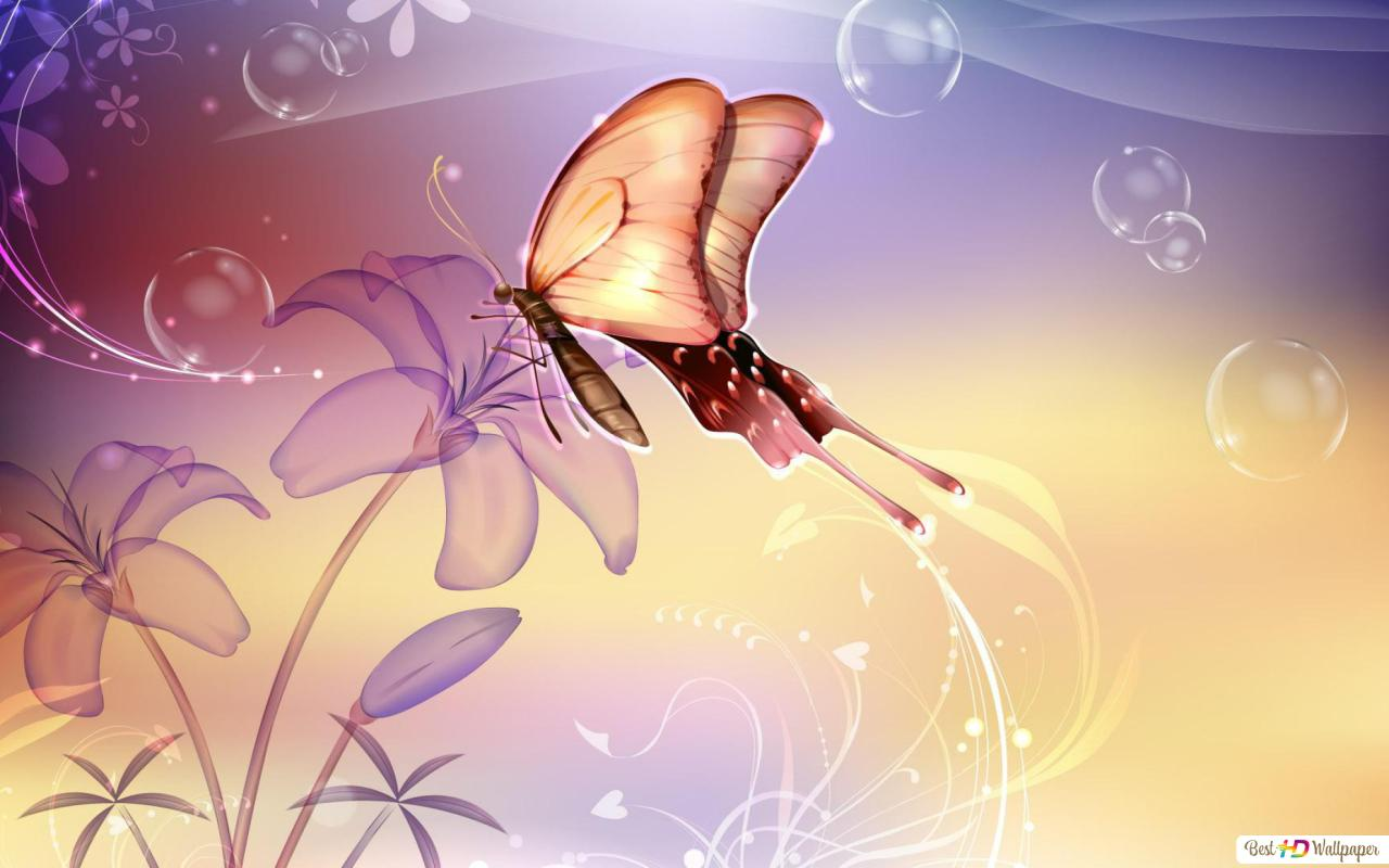 Artistic Butterfly Hd Wallpaper Download