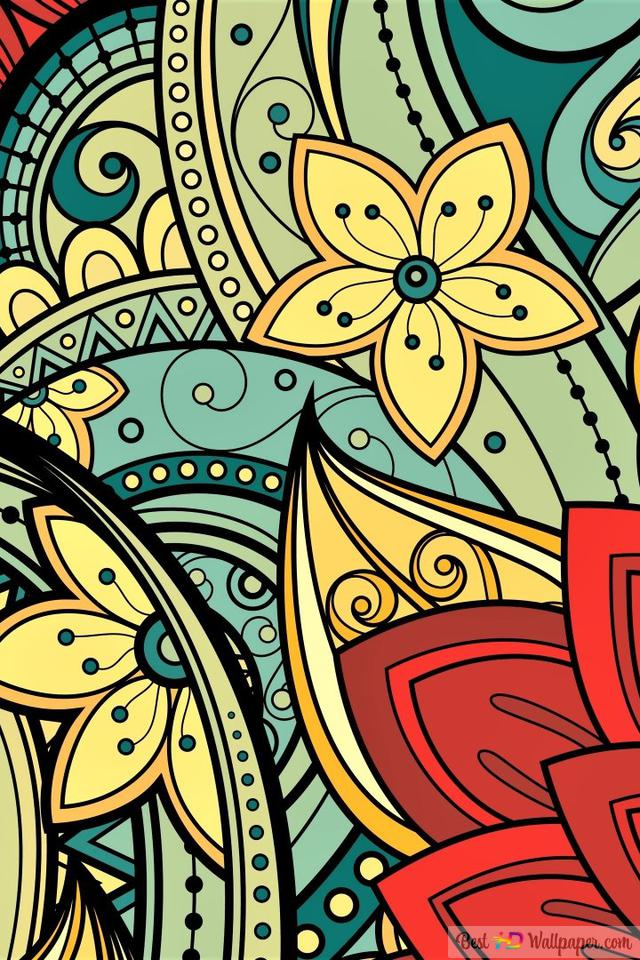 Artistic Flower Mandala Design Hd Wallpaper Download