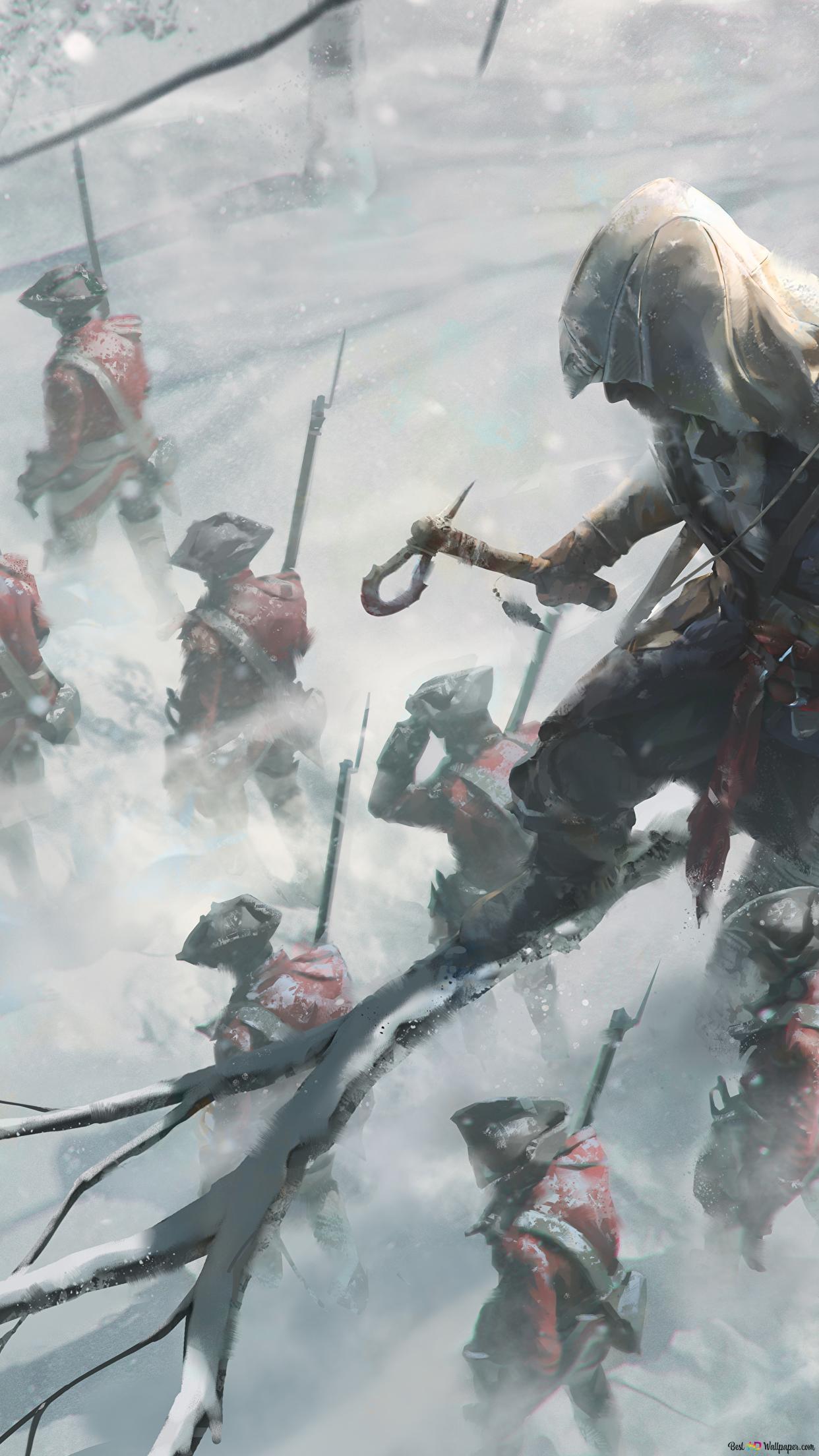 Assassin S Creed 3 Assassin Hidden On The Tree Hd Wallpaper Download