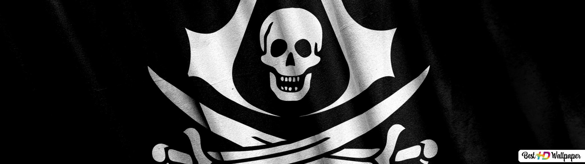 Assassin S Creed 4 Black Flag Pirate Logo Hd Wallpaper Download