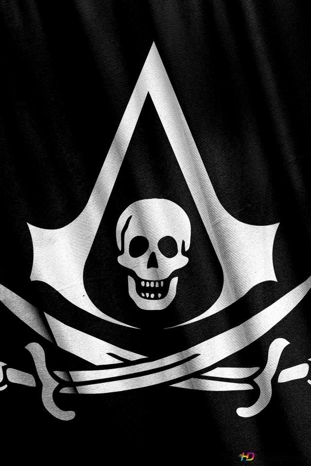 Assassin S Creed 4 Black Flag Pirate Logo Hd Wallpaper Download