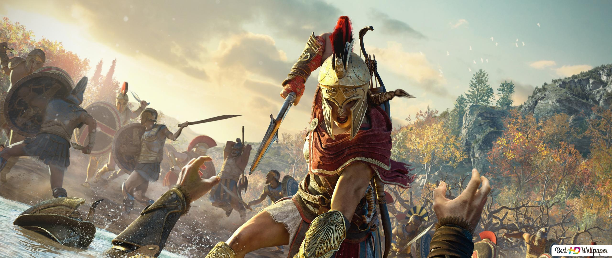 Assassin S Creed Odyssey Kassandra In Battle Hd Wallpaper Download