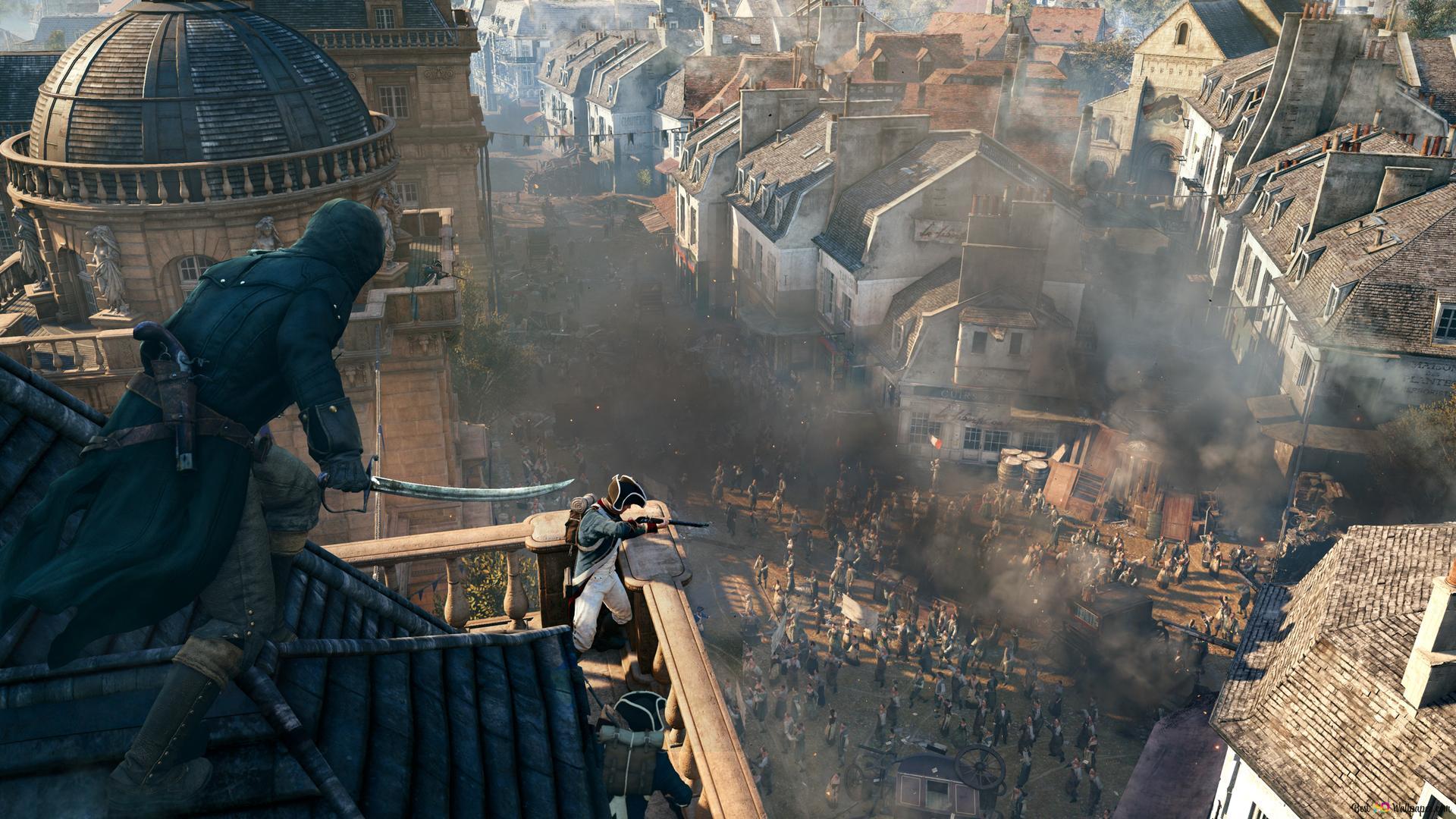 Assassin S Creed Unity Battle In Paris Hd Wallpaper Download
