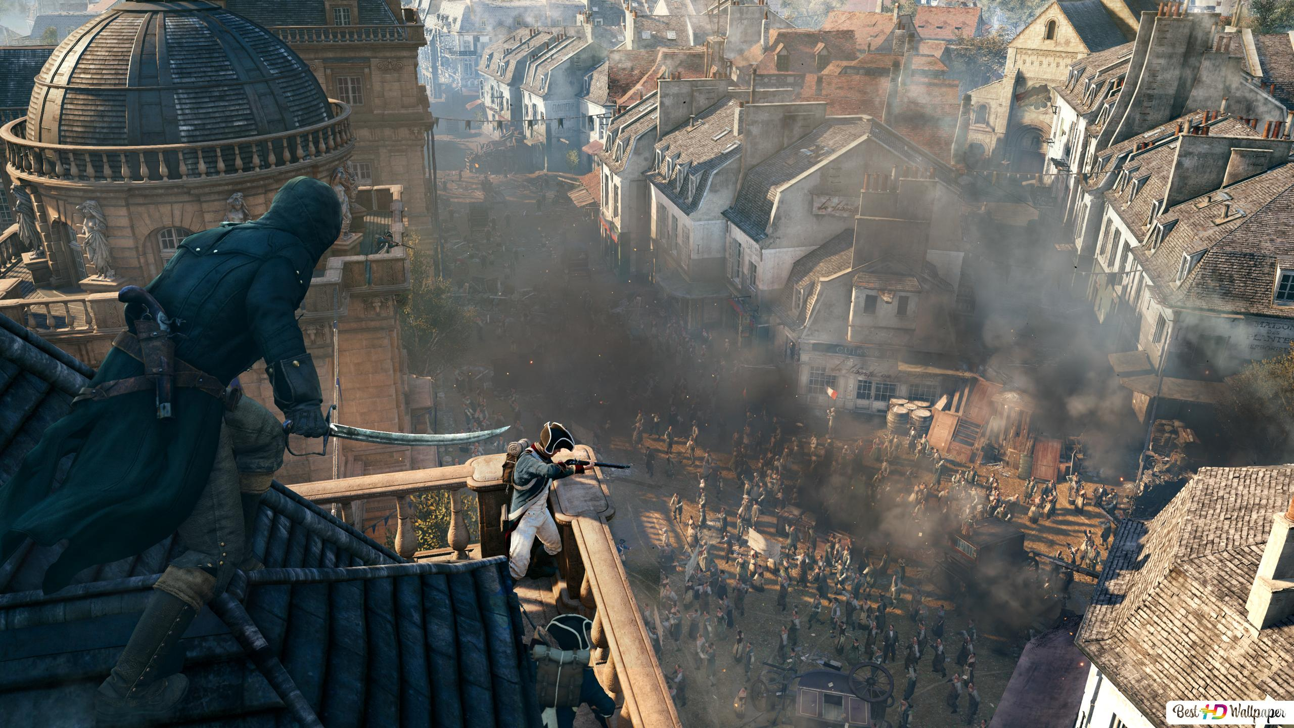 Assassin S Creed Unity Battle In Paris Hd Wallpaper Download
