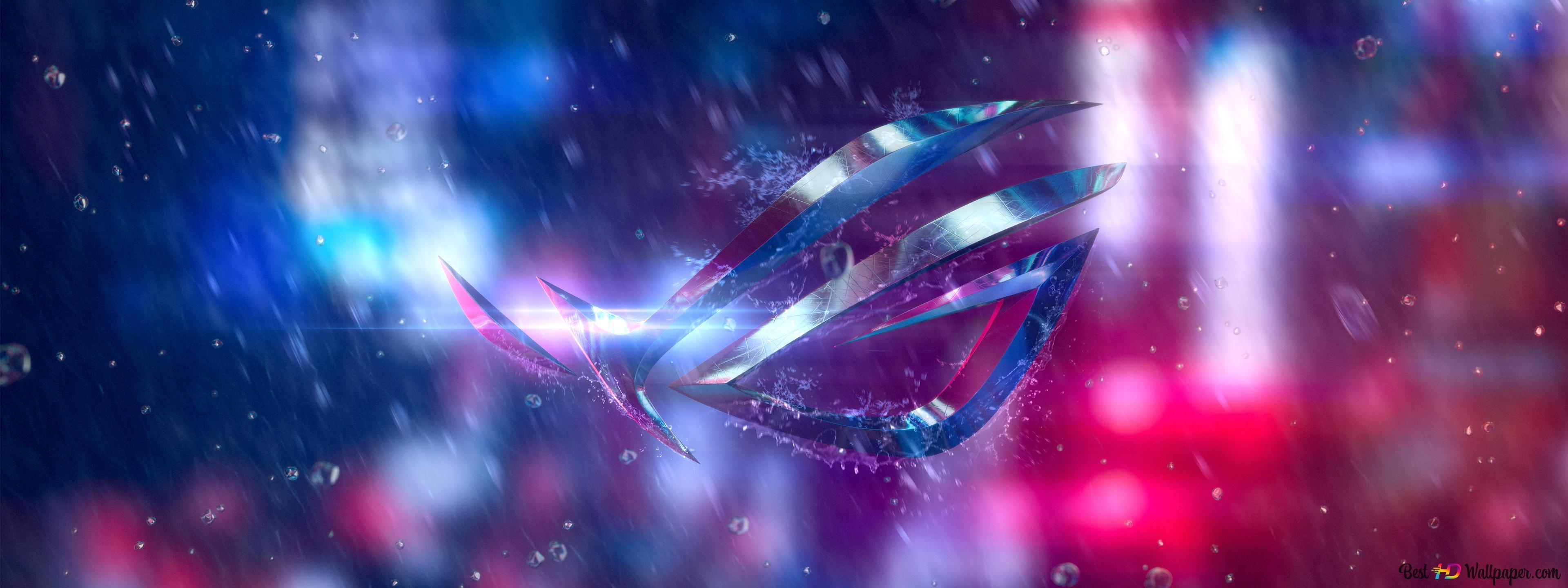 Asus Rog Republic Of Gamers Digital Logo Hd Wallpaper