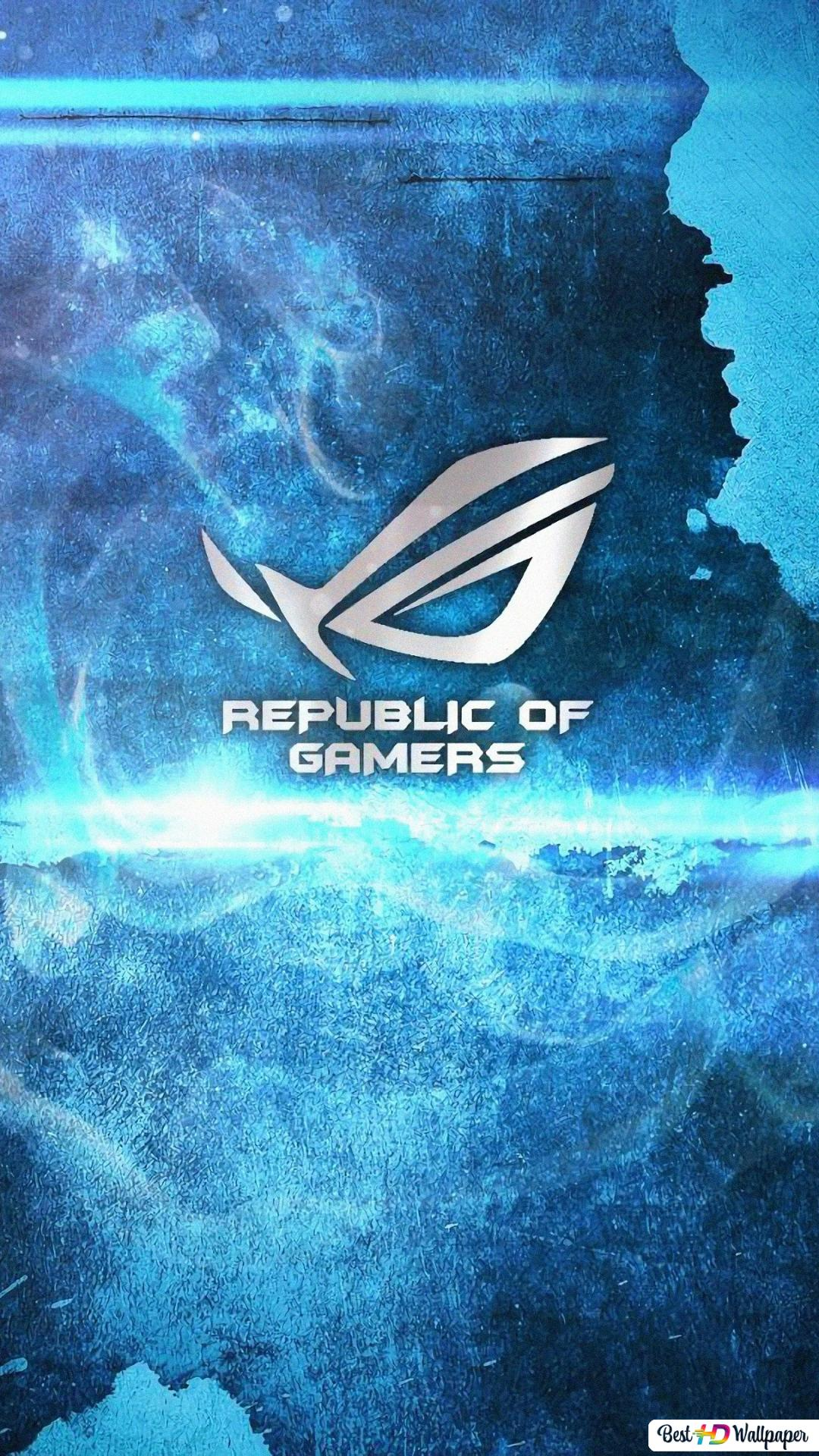 ASUS ROG Republic Of Gamers Logo Blue HD Wallpaper
