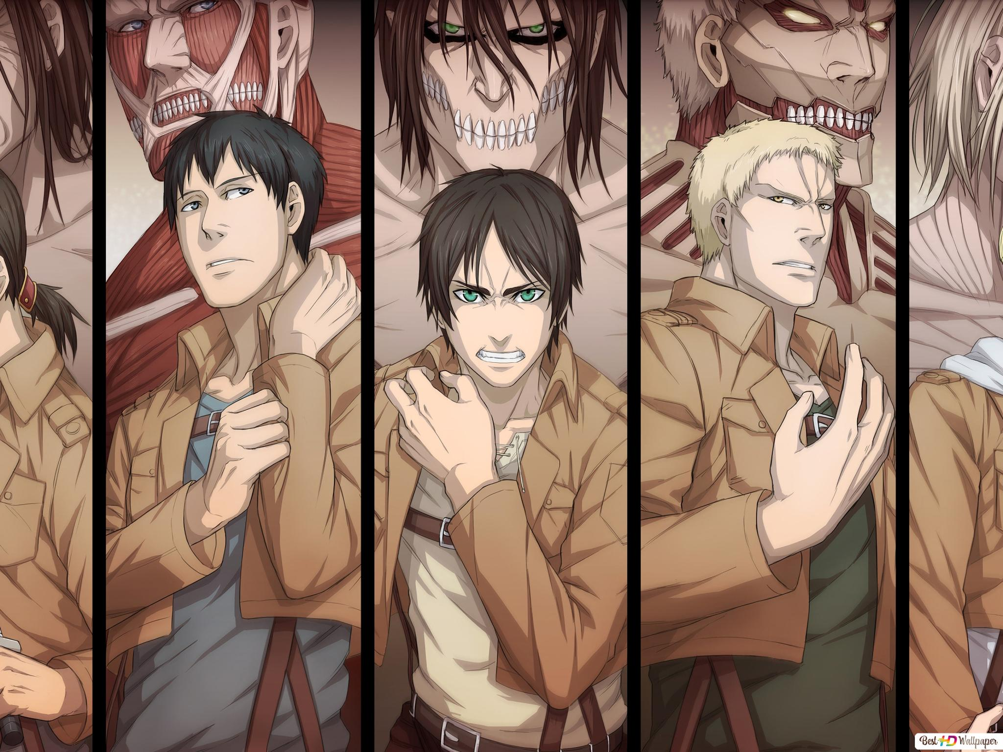 Attack On Titan Characters Hd Wallpaper Download