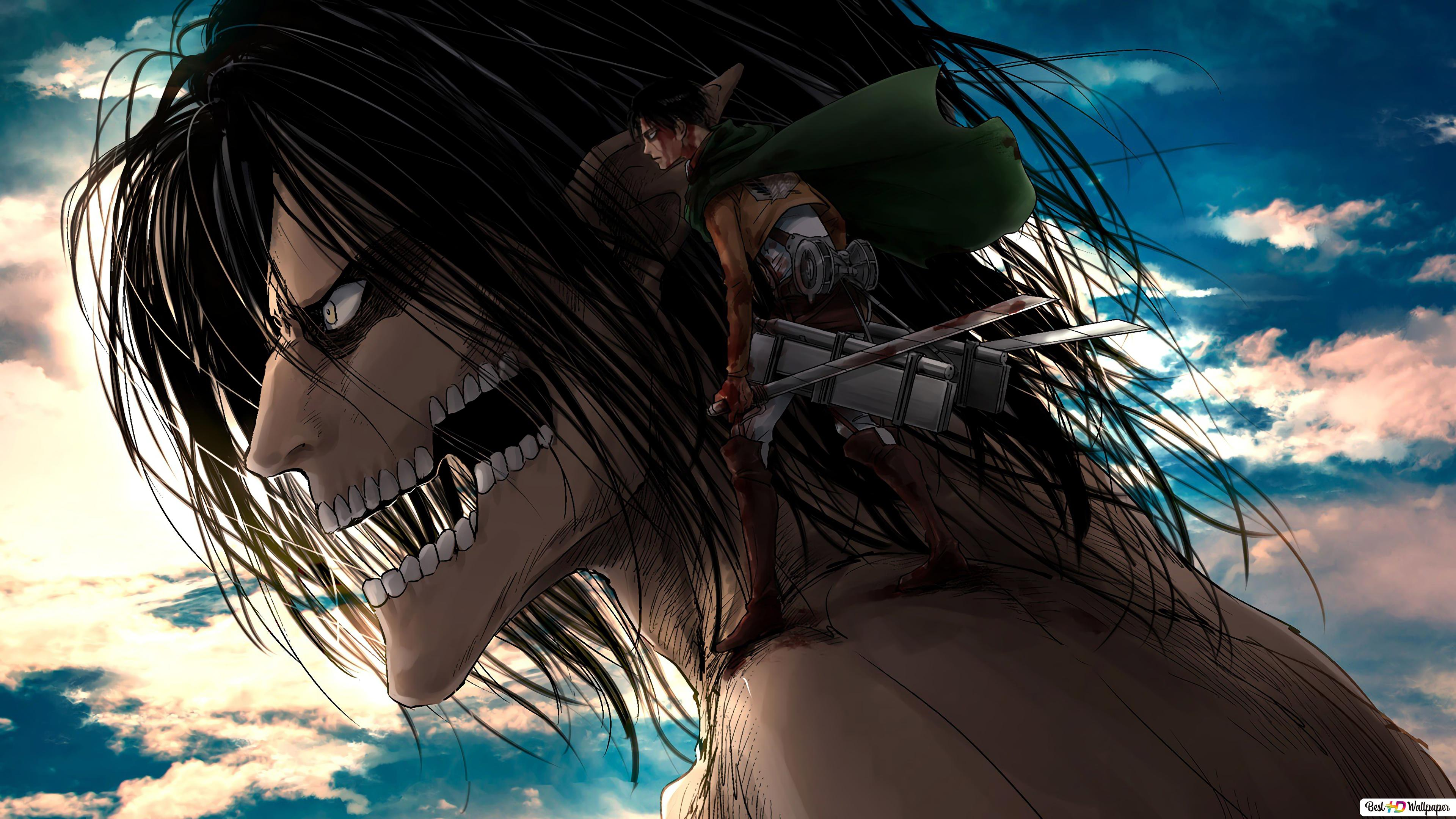 Attack On Titan Eren Levi Hd Wallpaper Download