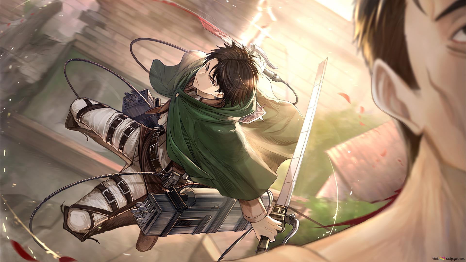 Attack On Titan Levi Ackerman For The Kill Hd Wallpaper Download
