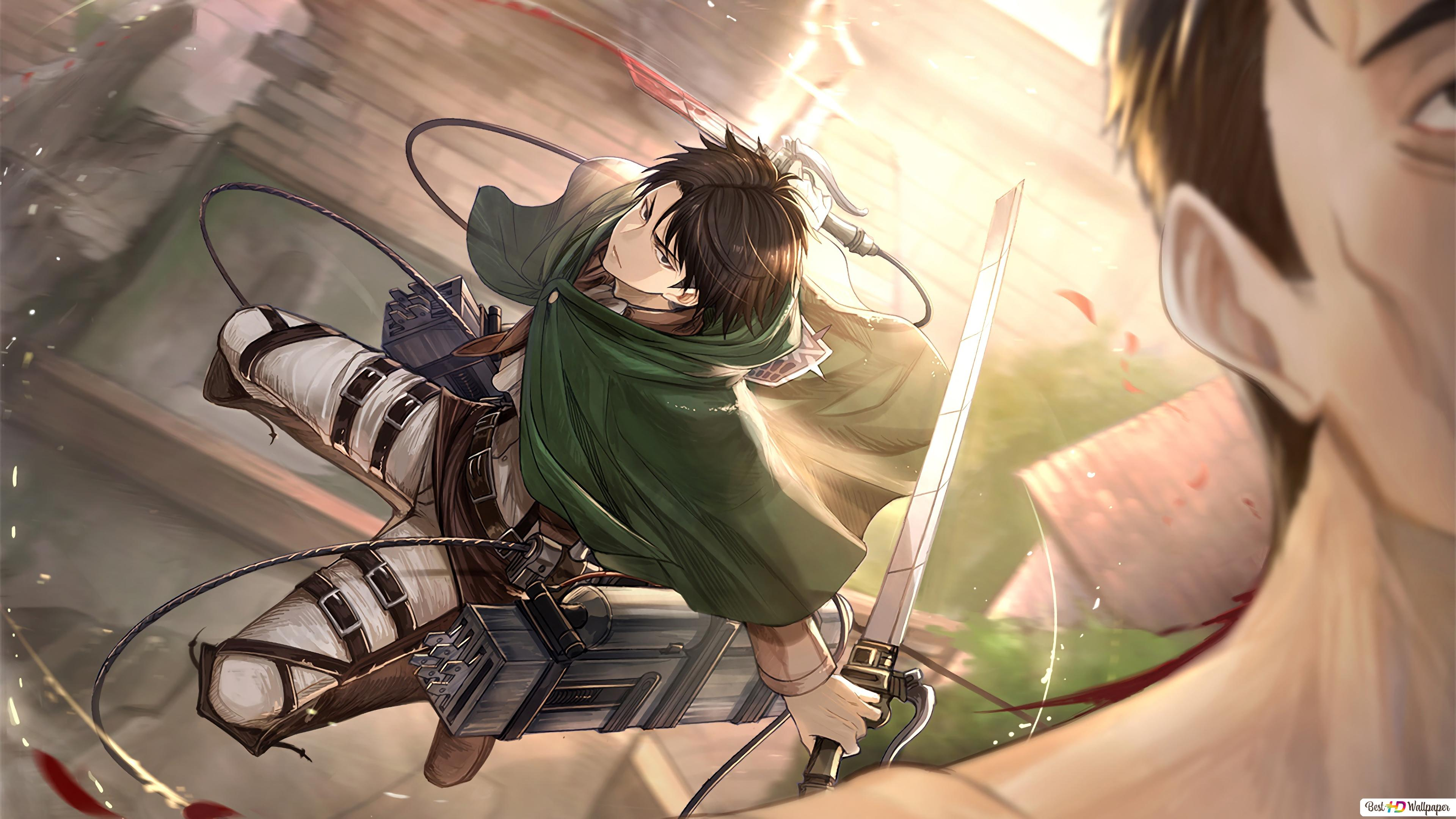 Attack On Titan Levi Ackerman For The Kill Hd Wallpaper Download