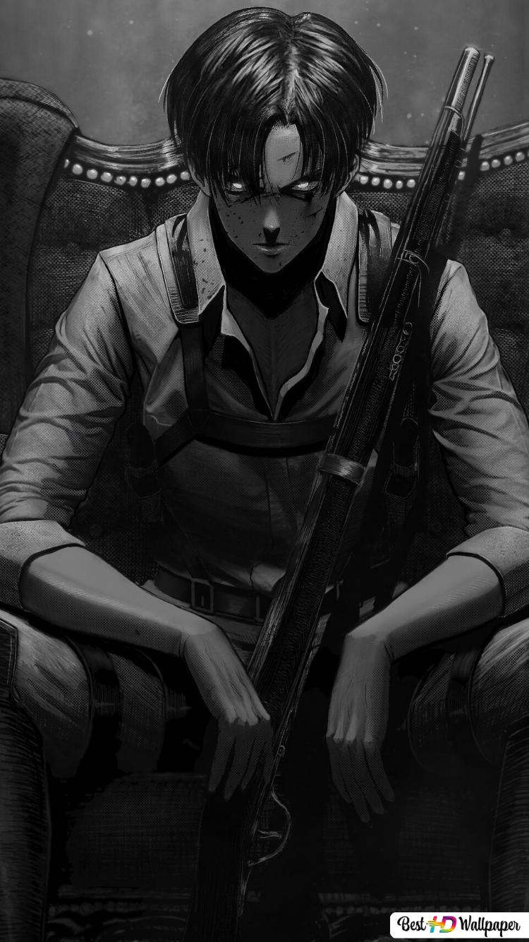 Attack On Titan Levi Ackerman Squad Captain Hd Wallpaper Download