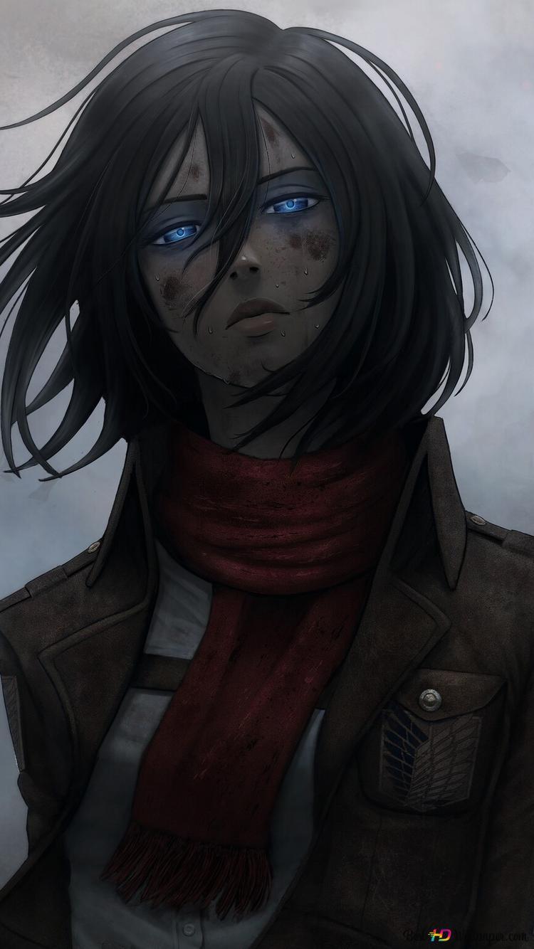 Attack On Titan Mikasa Ackerman Tired Hd Wallpaper Download