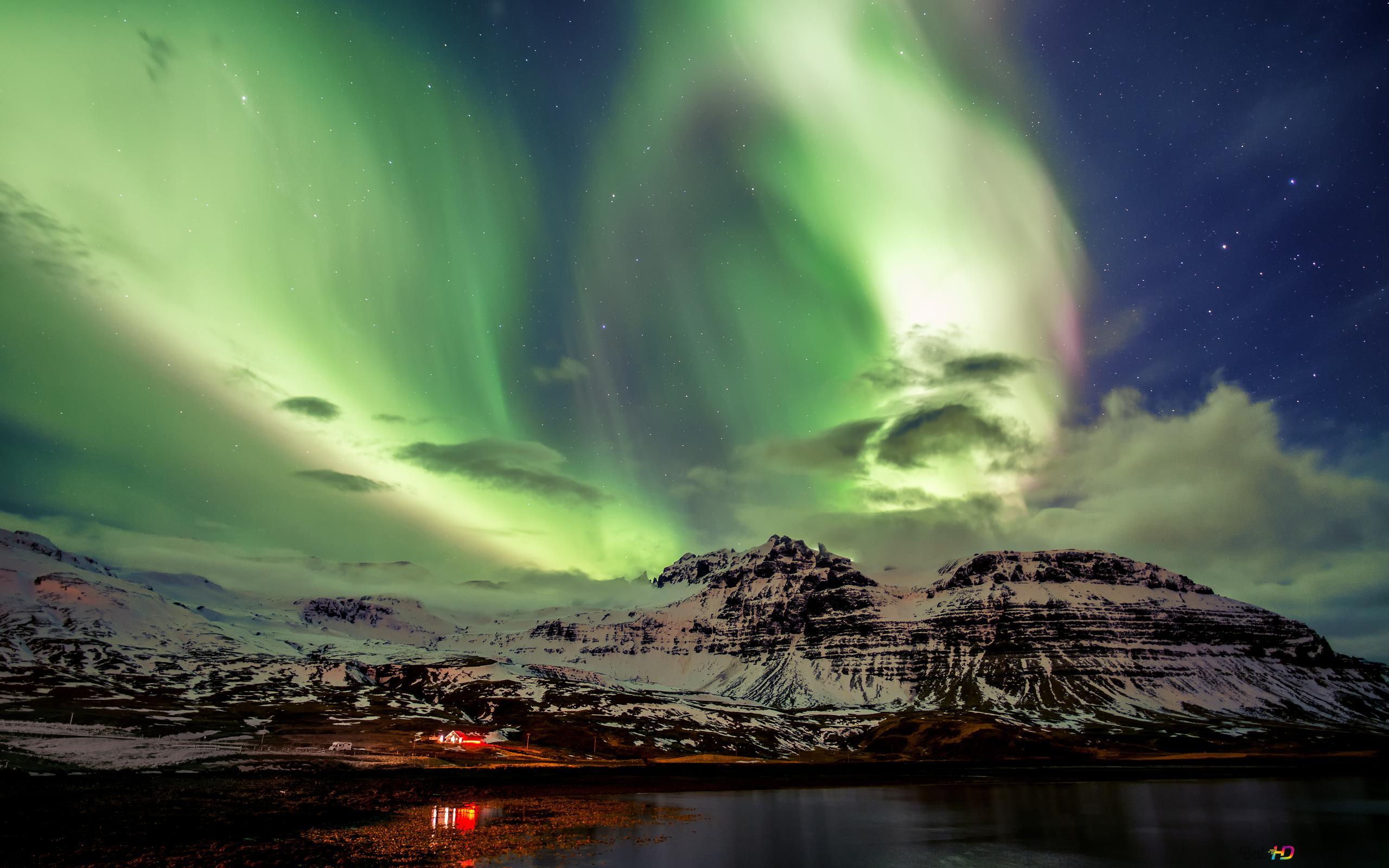 Aurora boreale download di sfondi hd for Sfondi aurora boreale