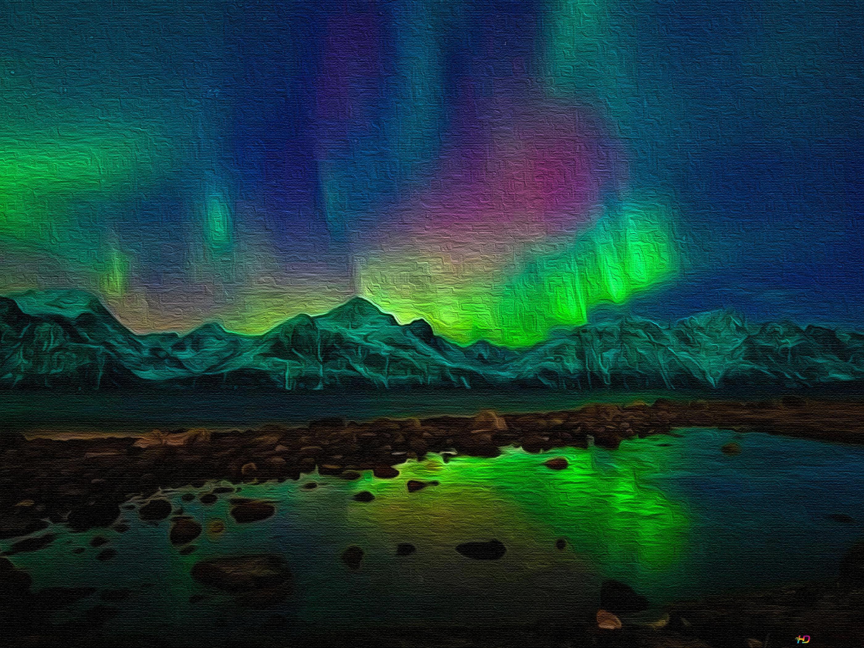 Aurora Borealis Canvas Hd Wallpaper Download