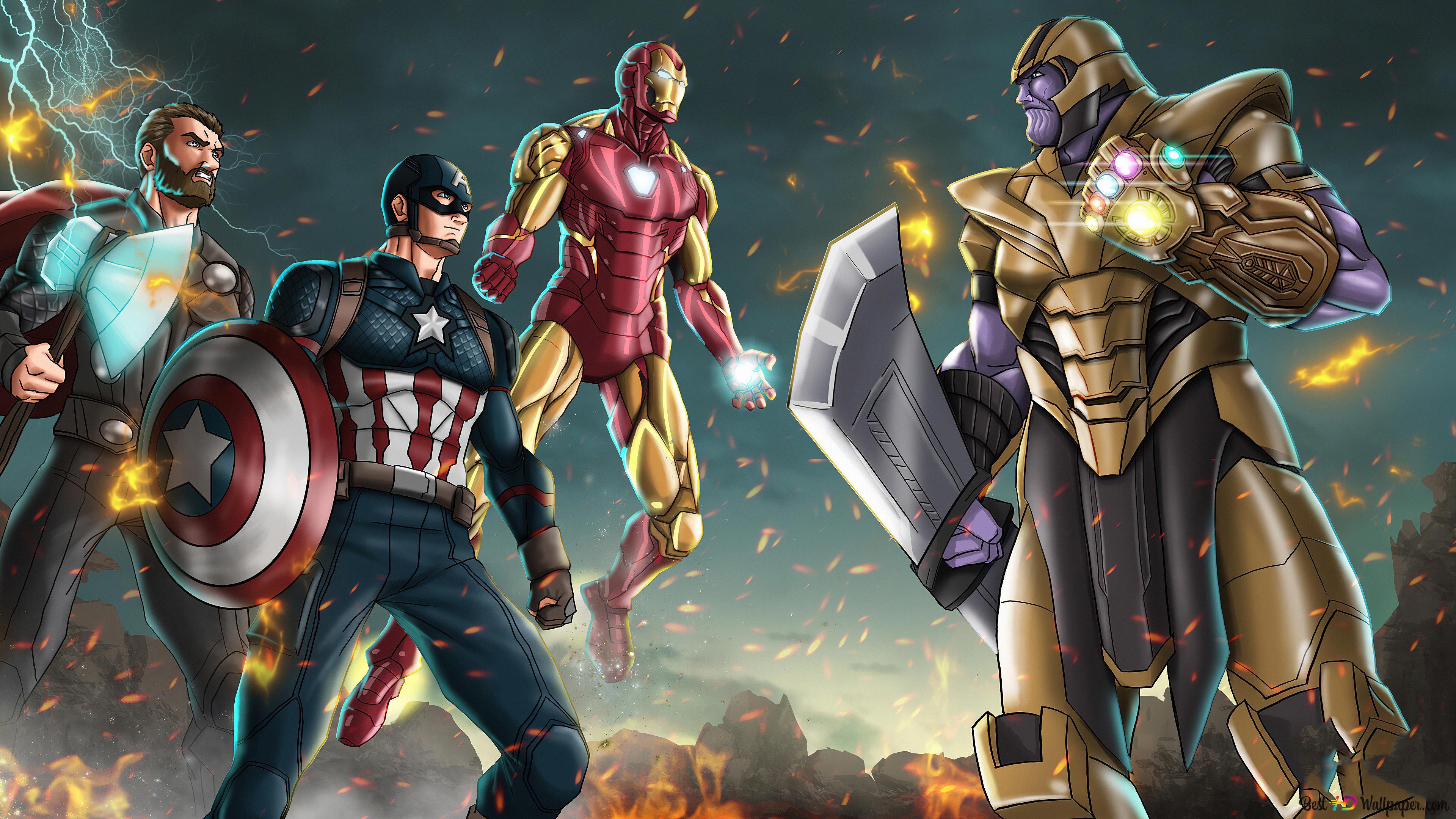 Avengers Endgame Final Battle Hd Wallpaper Download