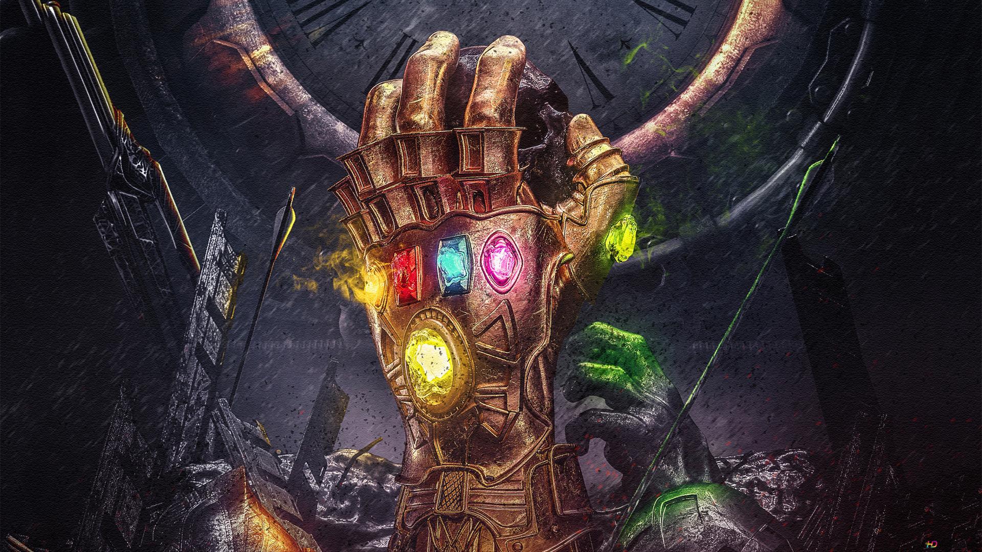 Avengers Endgame Infinity Gauntlet Painting Hd Wallpaper Download