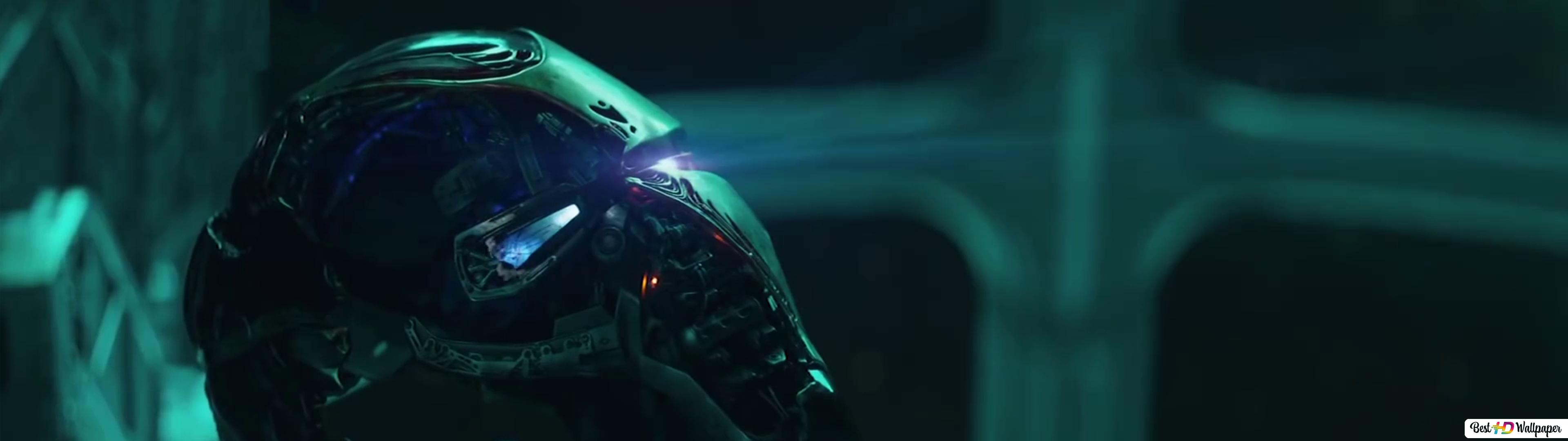 Avengers Endgame Iron Man Broken Helmet Hd Wallpaper Download