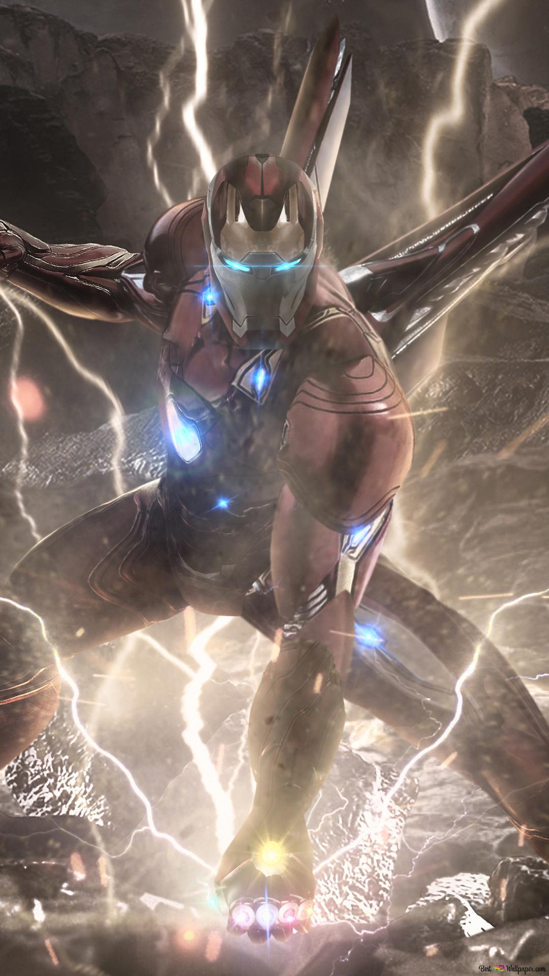 Avengers Endgame Iron Man Infinity Pierres Powers Hd Fond